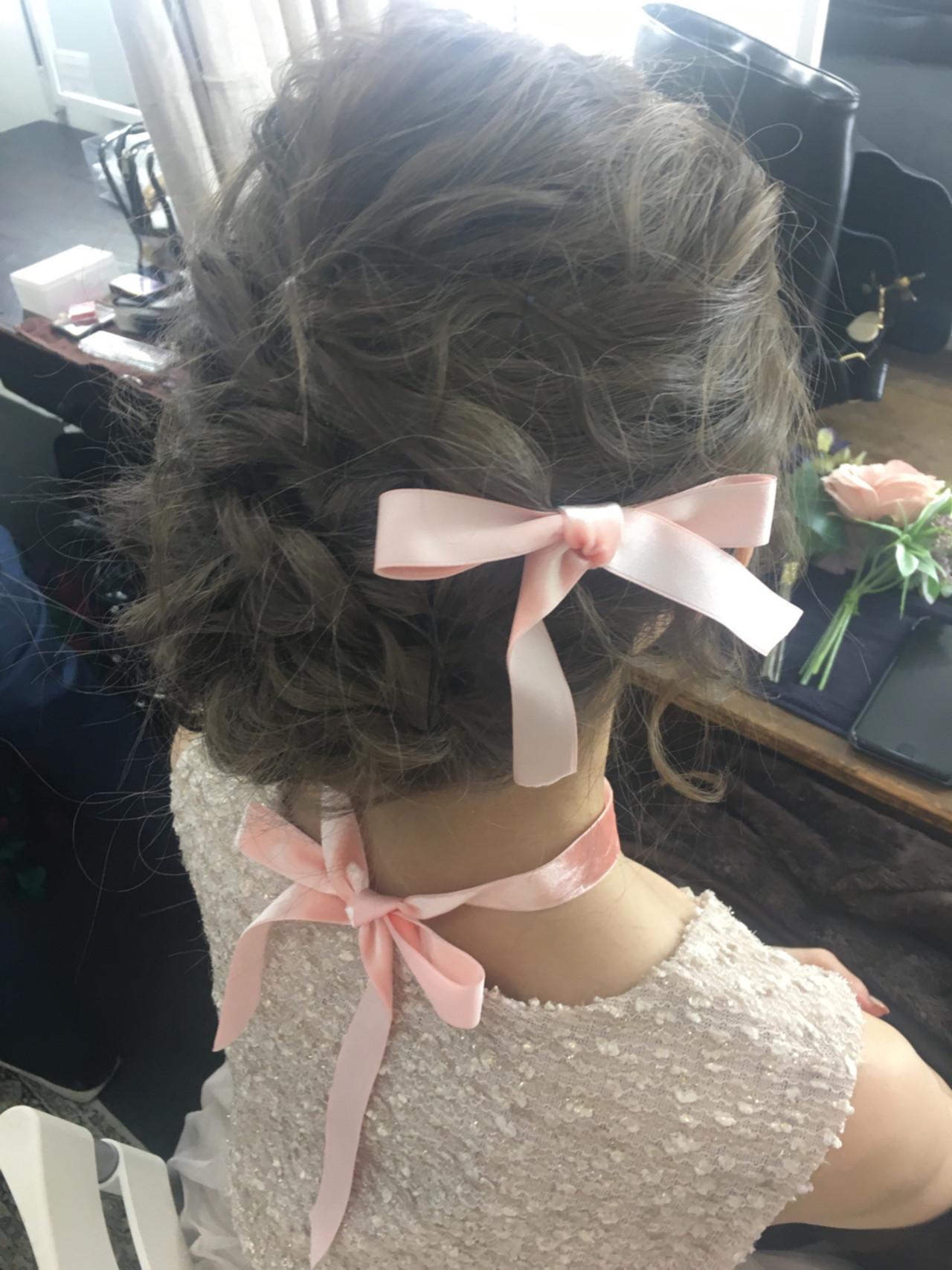 編み込み ゆるふわ ロング ヘアアレンジ ヘアスタイルや髪型の写真・画像 | 小宮山彩花 / ibrel(イリル)自由が丘