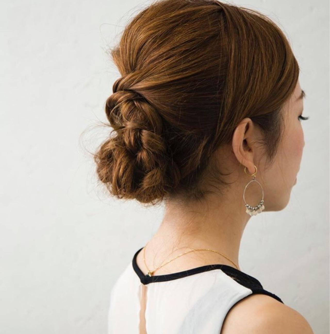 ショート セミロング 大人女子 結婚式 ヘアスタイルや髪型の写真・画像 | 伊藤 貴昭 / CACINA  カシナ