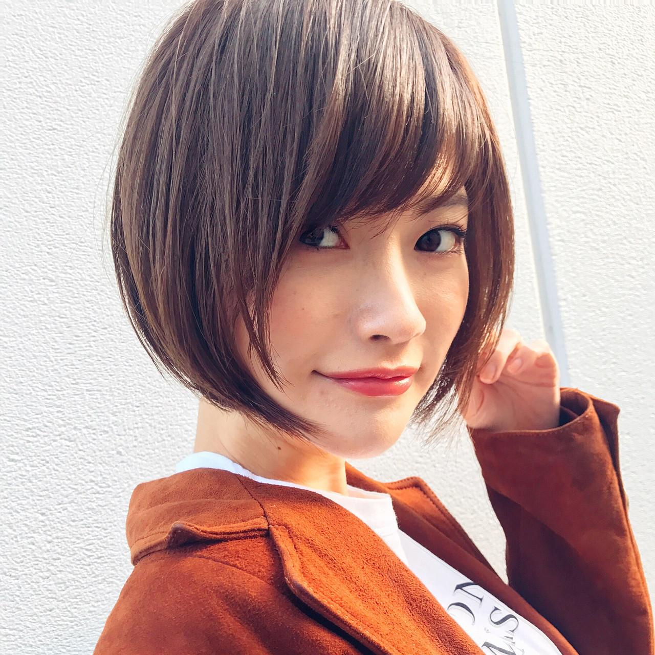 ショート 前下がり ナチュラル 大人かわいい ヘアスタイルや髪型の写真・画像 | 高橋苗 / GARDENharajuku