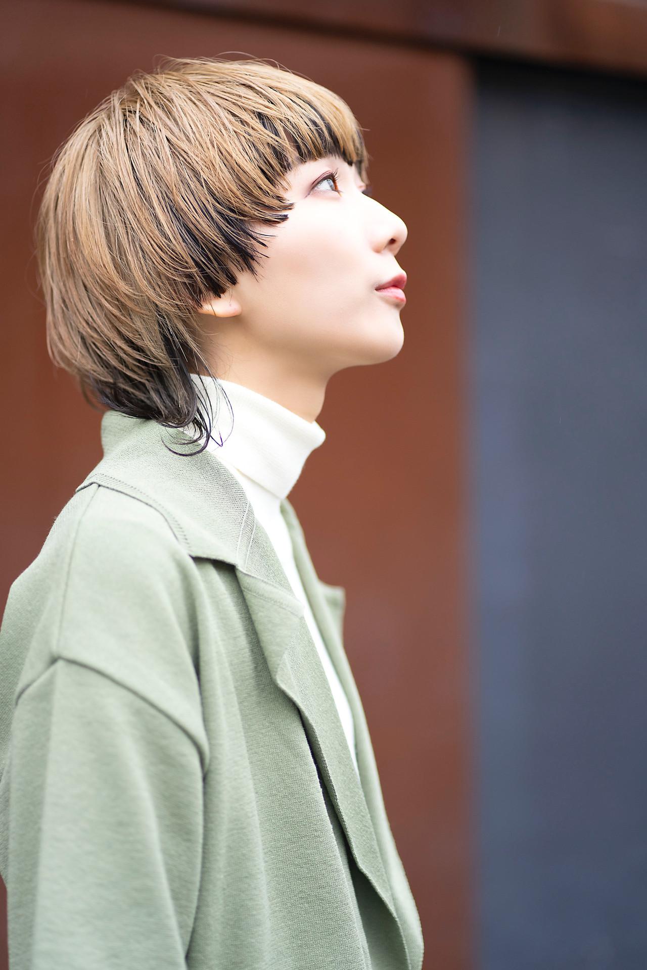 ストリート マッシュウルフ ウルフカット ショートヘアスタイルや髪型の写真・画像