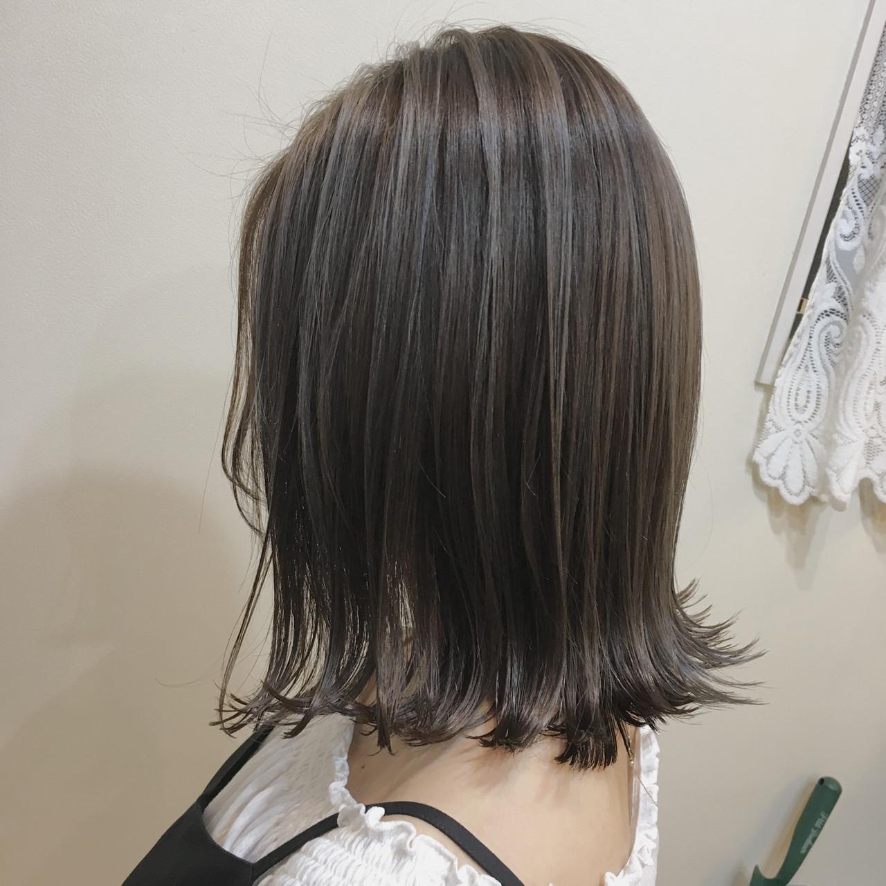ナチュラル 3Dハイライト コントラストハイライト 大人ハイライトヘアスタイルや髪型の写真・画像