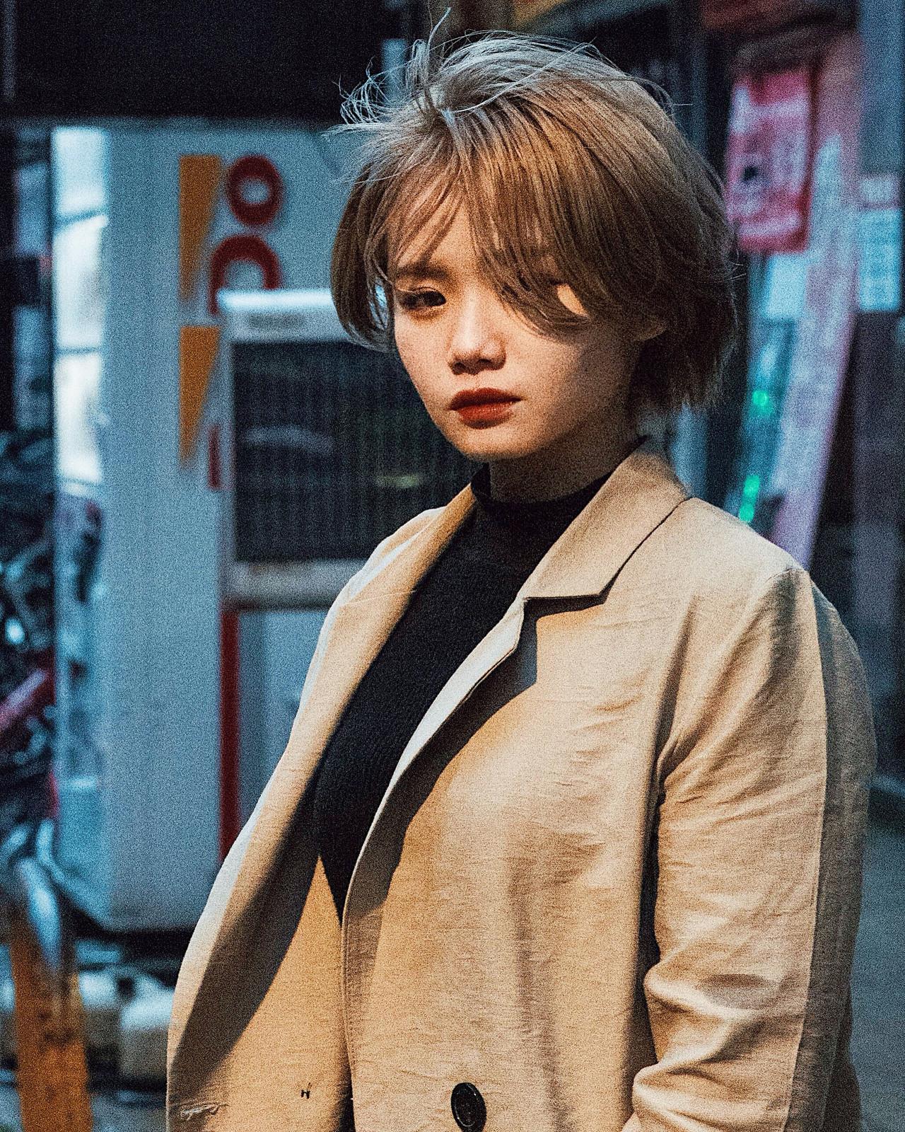 ショート ハンサムショート ナチュラルベージュ ストリート ヘアスタイルや髪型の写真・画像   ニシモリ ショウヘイ / 583koyomi