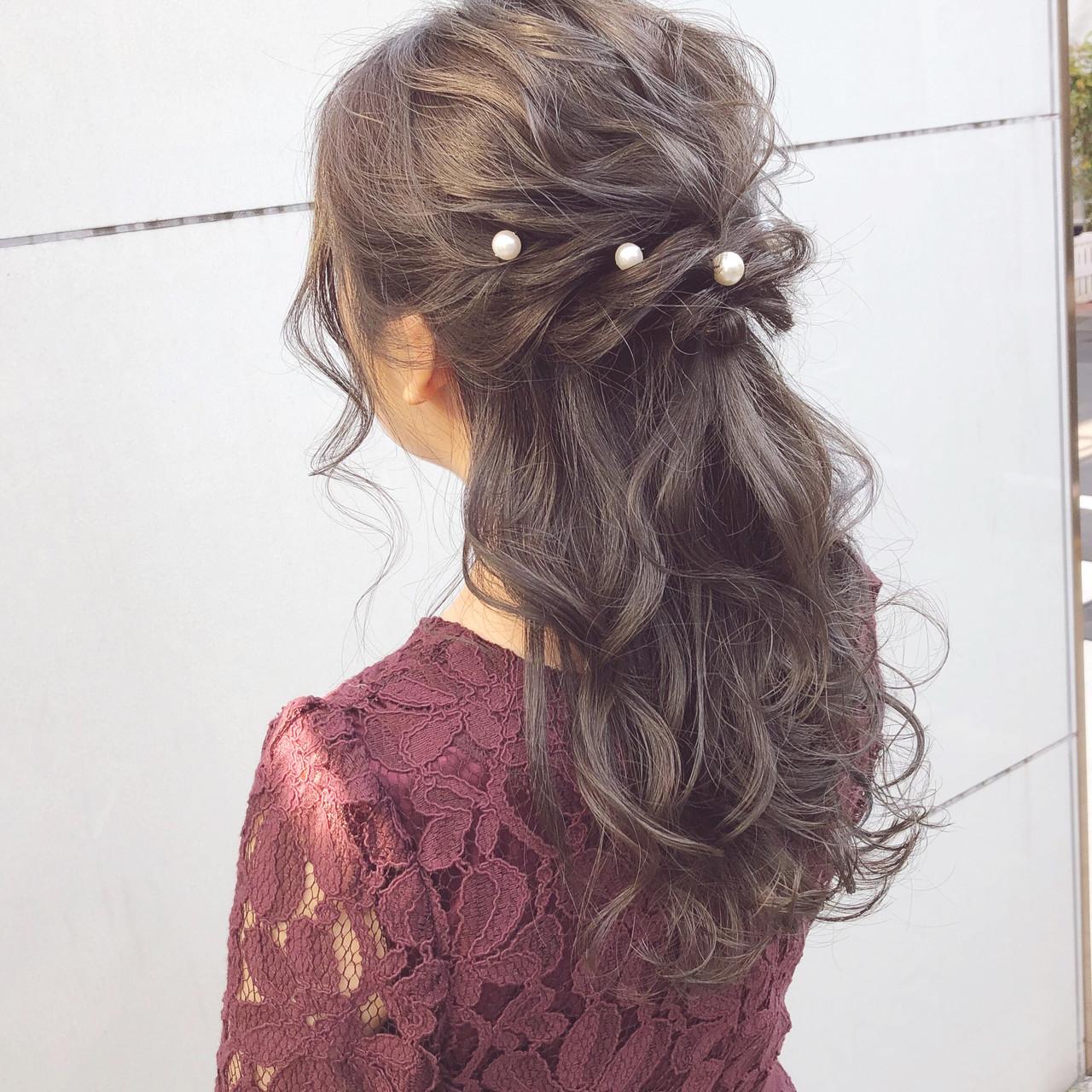 オフィス セミロング 結婚式 ナチュラル ヘアスタイルや髪型の写真・画像 | 『ボブ美容師』永田邦彦 表参道 / send by HAIR