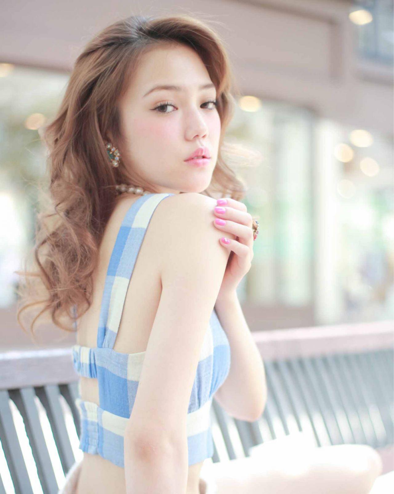 春 ゆるふわ 愛され モテ髪 ヘアスタイルや髪型の写真・画像 | Ryohei Kumai / kakimoto arms 自由が丘creo店