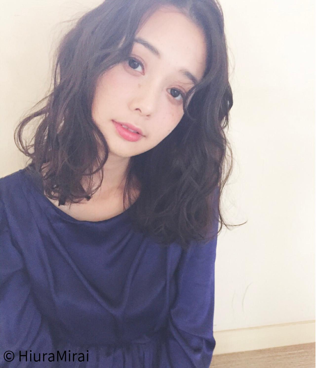 ガーリー デート ミディアム 女子会 ヘアスタイルや髪型の写真・画像 | Mirai / enntaku