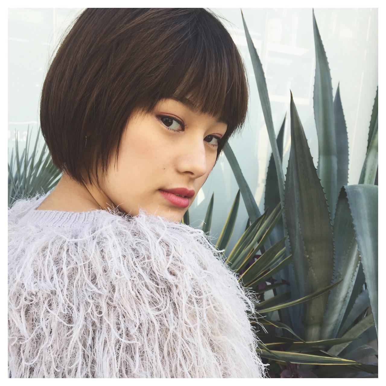 かっこいい 本田翼 ナチュラル オルチャン ヘアスタイルや髪型の写真・画像   Nari46 / tricca DAIKANYAMA