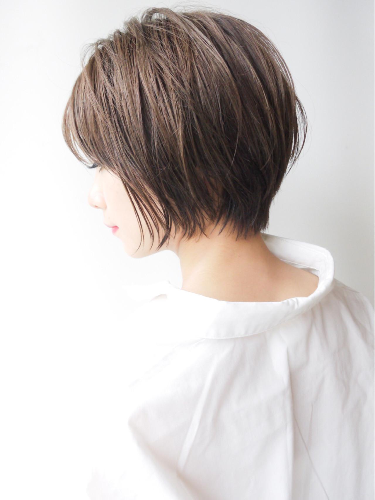 オフィス 大人かわいい ショート 愛され ヘアスタイルや髪型の写真・画像 | HIROKI / roijir / roijir