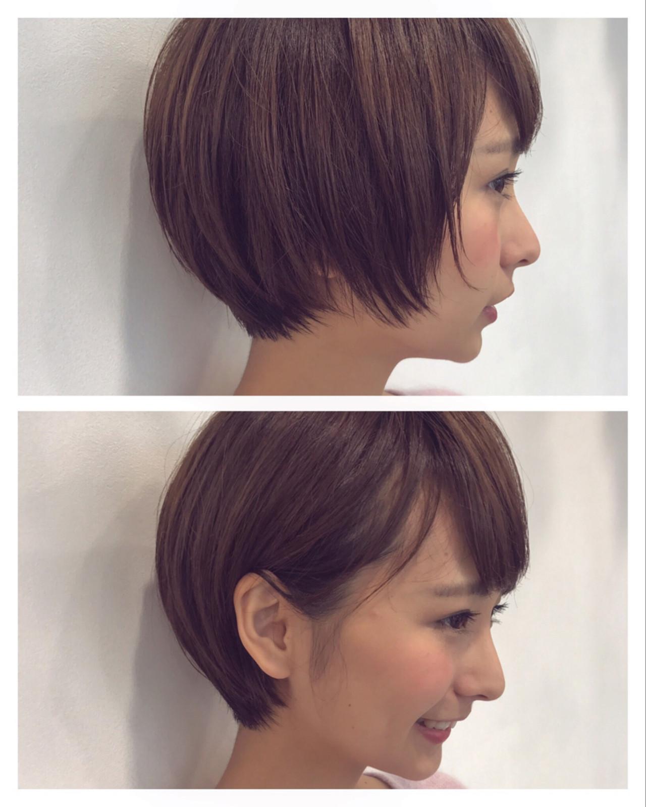 こなれ感 ナチュラル 暗髪 ショートボブ ヘアスタイルや髪型の写真・画像   高橋苗 / GARDENharajuku