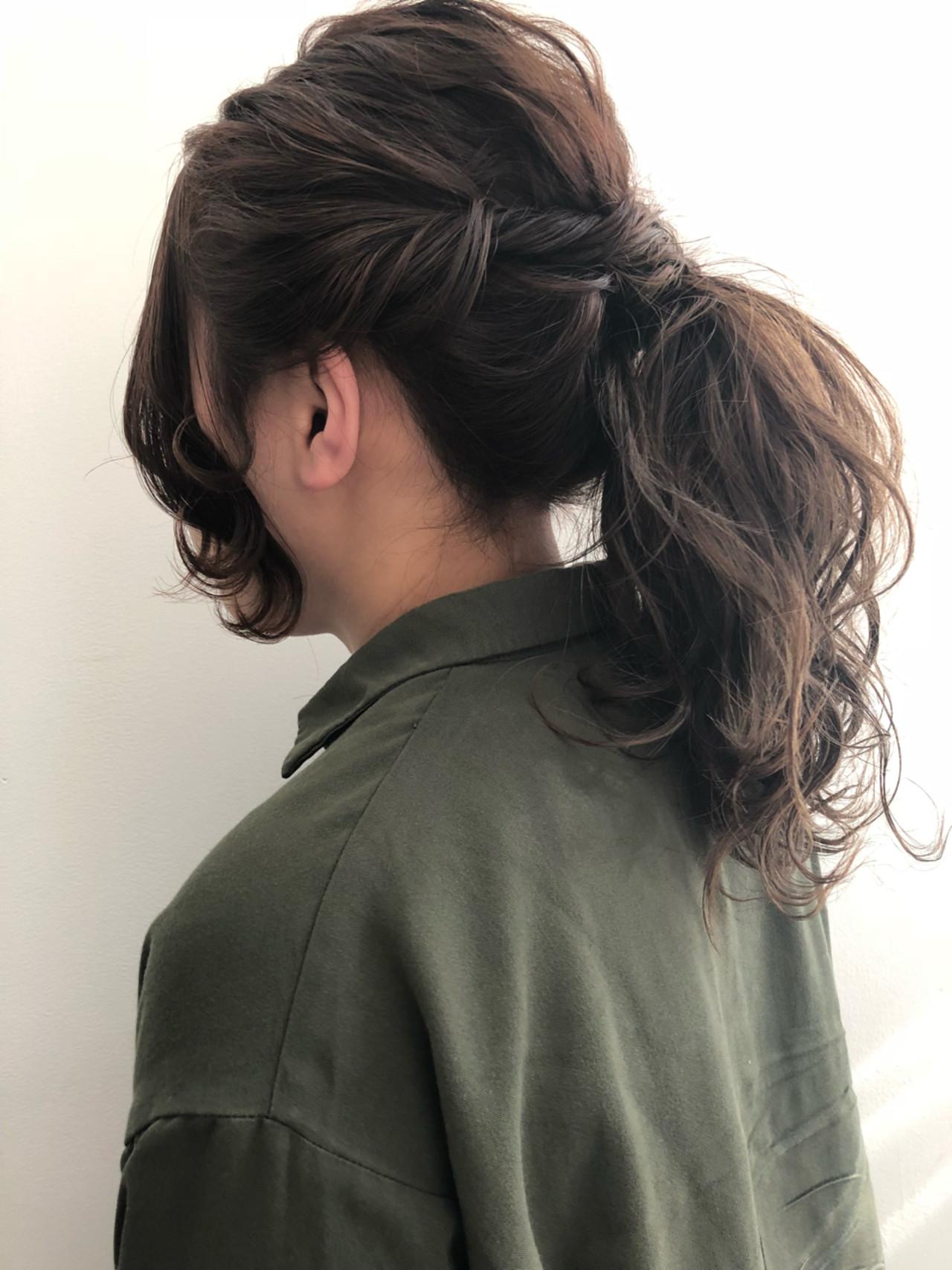 ロング ヘアアレンジ 大人女子 ショートヘアスタイルや髪型の写真・画像