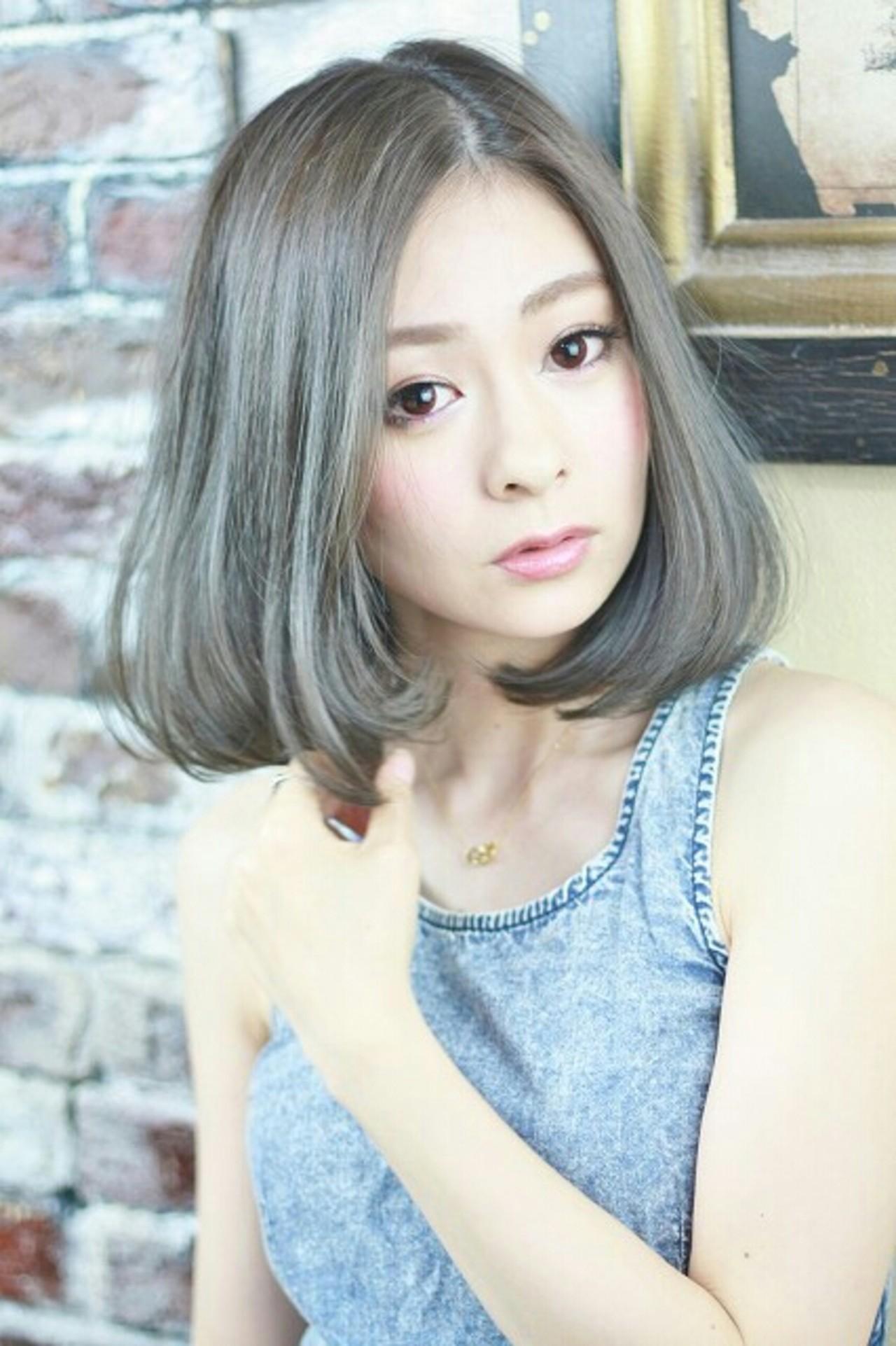 アッシュ 外国人風 ハイライト ガーリーヘアスタイルや髪型の写真・画像