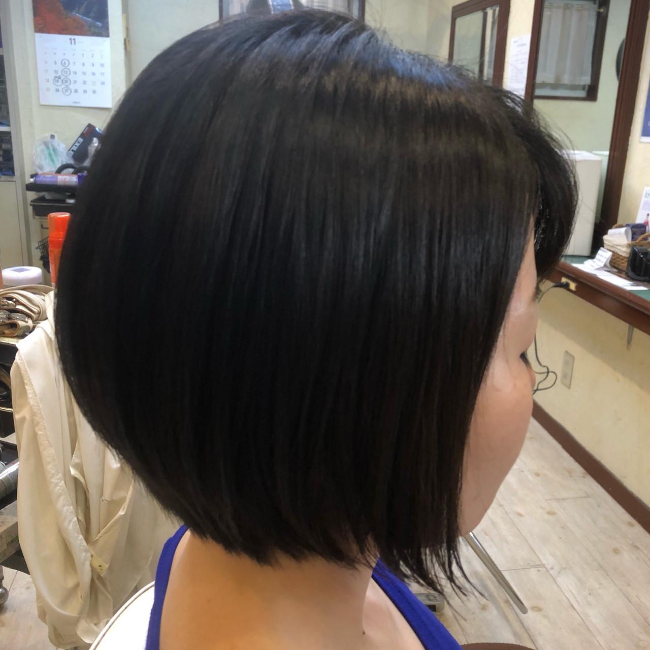 艶髪 前下がり エレガント 大人女子ヘアスタイルや髪型の写真・画像