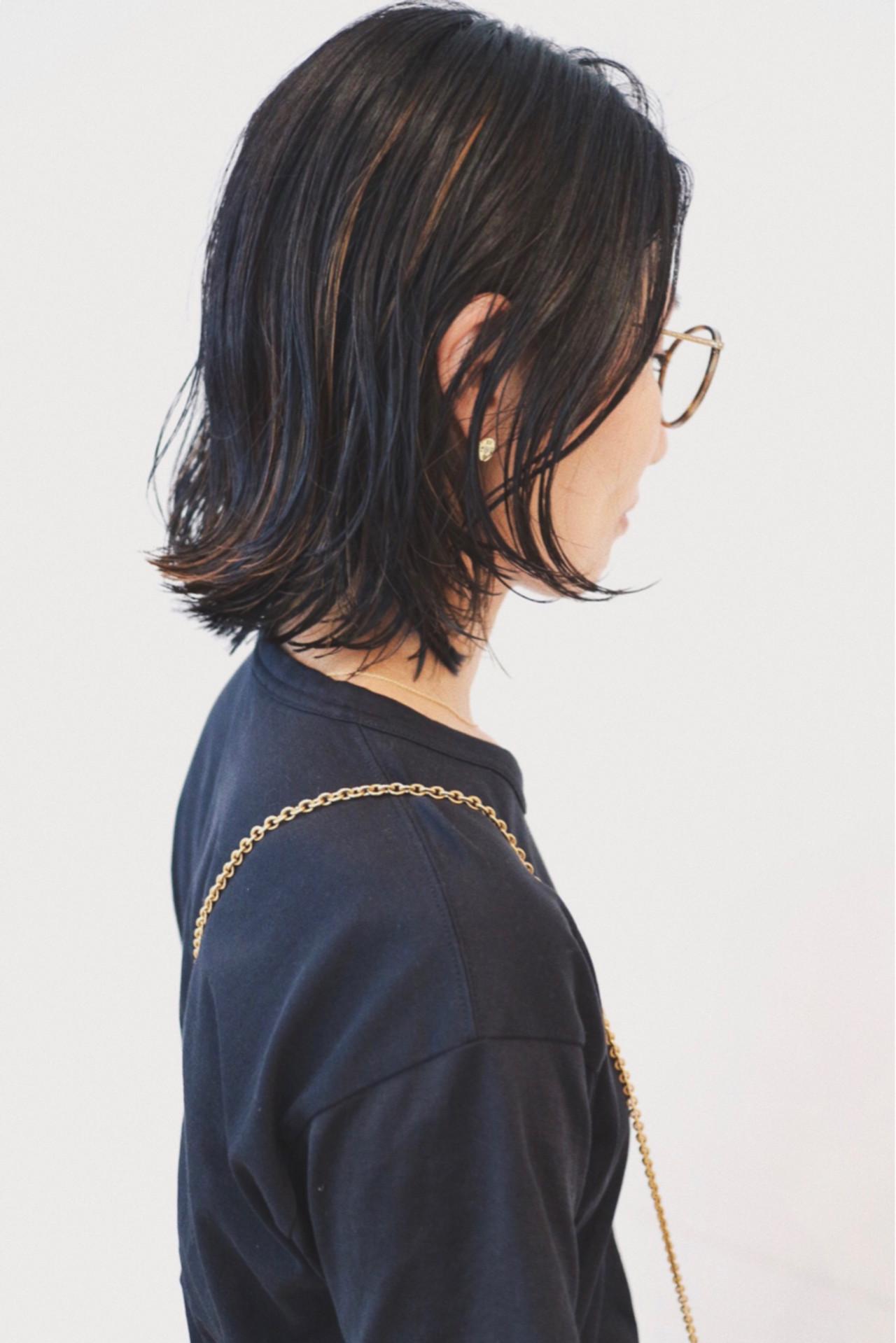 ストリート インナーカラー ボブ ハイライト ヘアスタイルや髪型の写真・画像 | 三好 佳奈美 / Baco.(バコ)