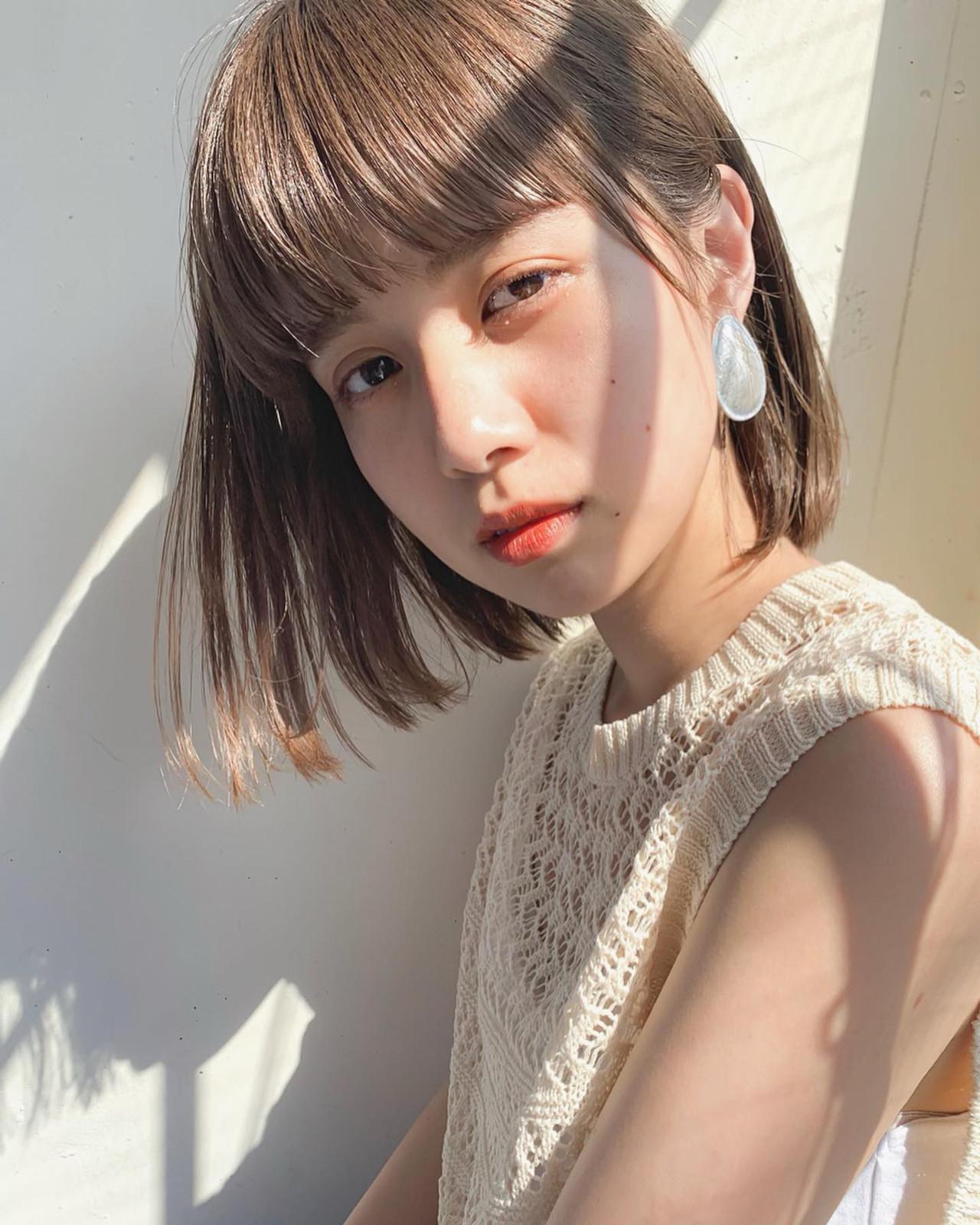 ヘアアレンジ 切りっぱなしボブ ナチュラル ボブ ヘアスタイルや髪型の写真・画像 | 太田 ヒロト / GARDEN omotesando