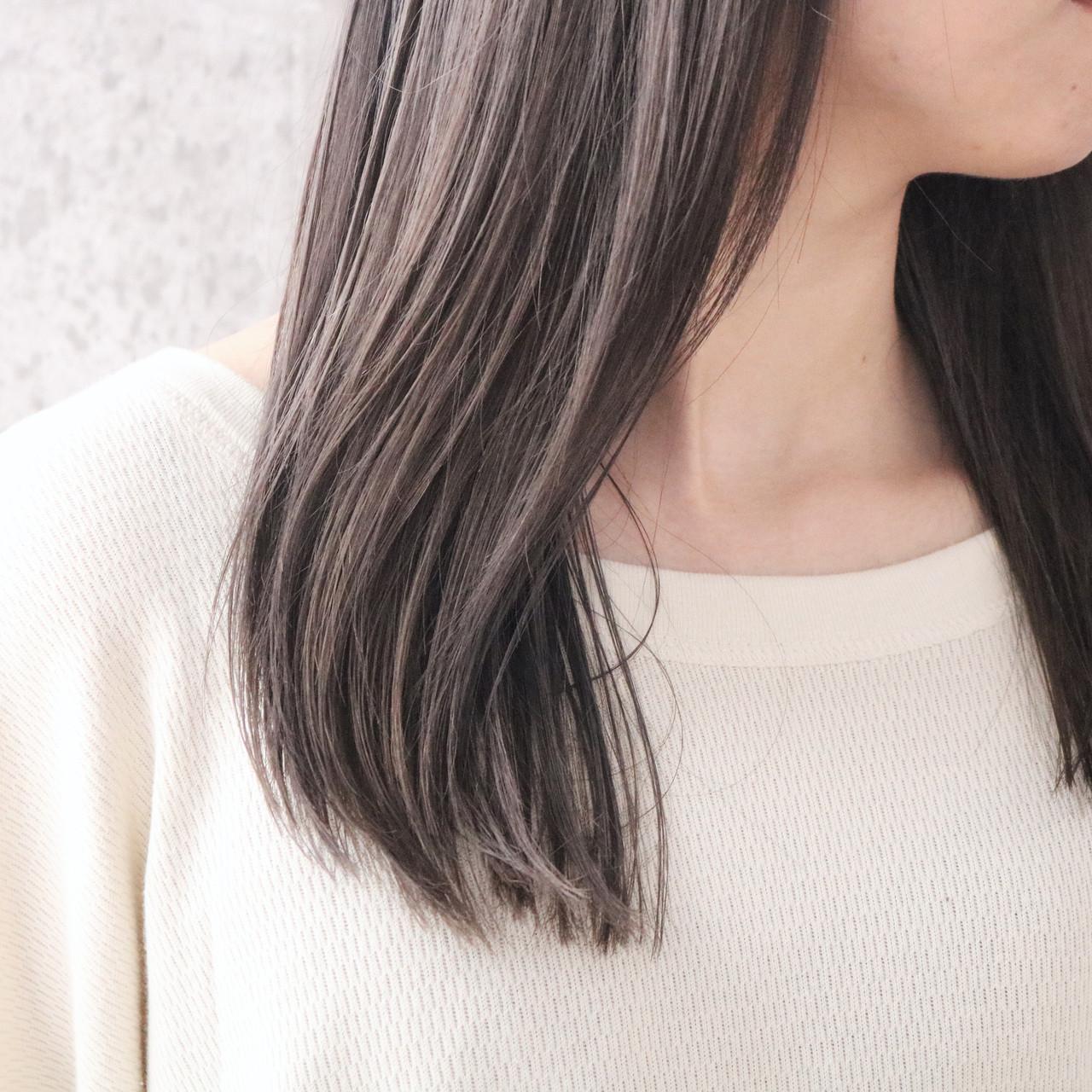 外国人風カラー ツヤ髪 ナチュラル ロングヘアスタイルや髪型の写真・画像