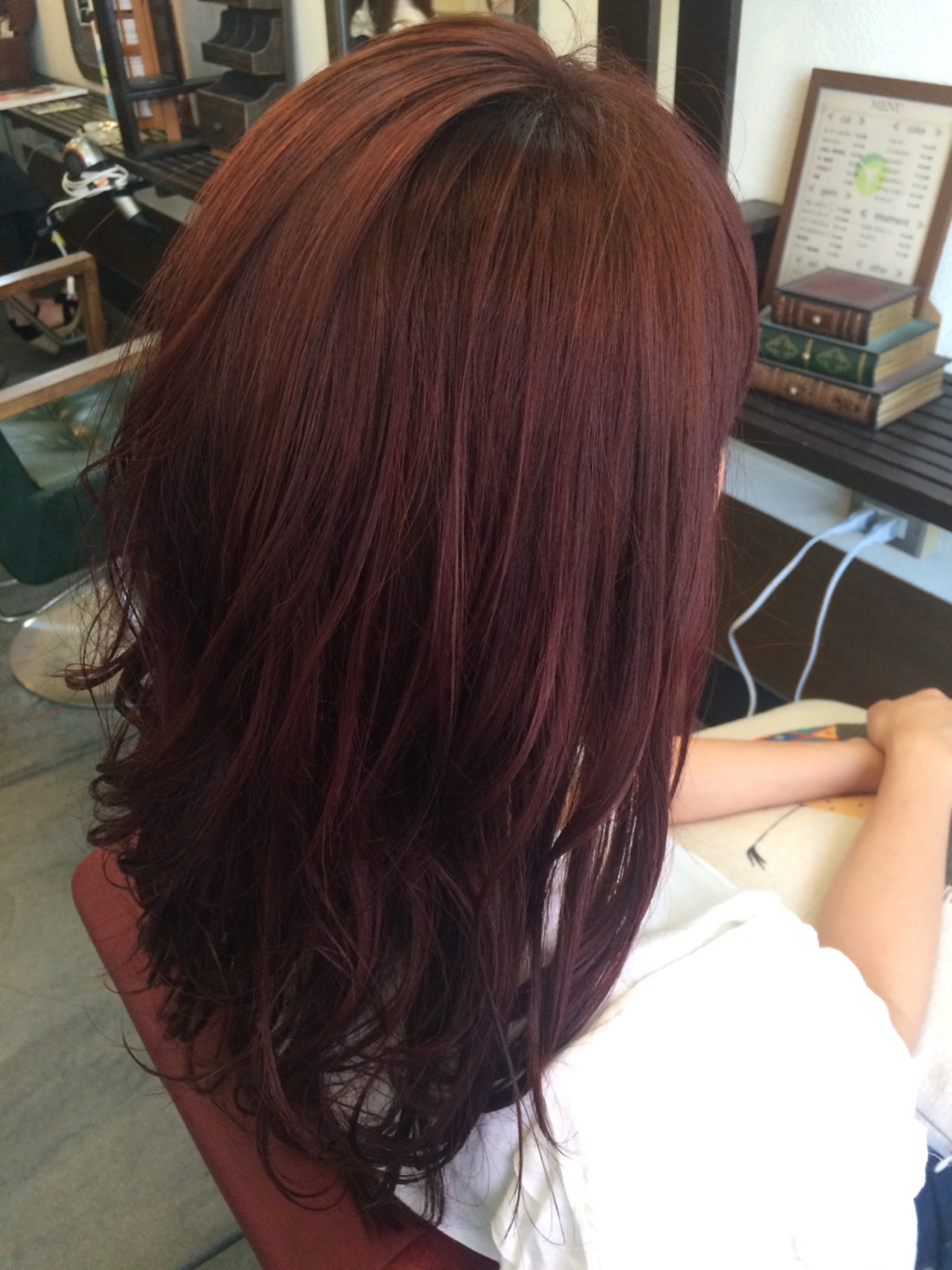 秋 ピンク グラデーションカラー ストリート ヘアスタイルや髪型の写真・画像 | 井上瑛絵 / vicushair
