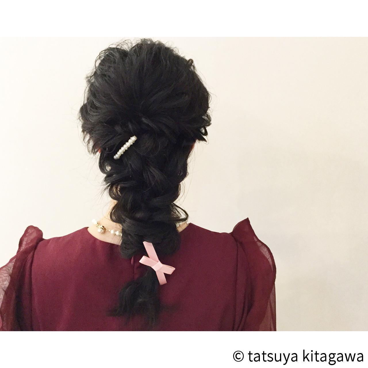 結婚式 花嫁 フェミニン ヘアアレンジ ヘアスタイルや髪型の写真・画像 | tatsuya kitagawa / clarity 京都駅前本店