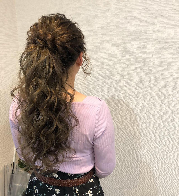 ヘアアレンジ 結婚式 ねじり ヘアセット ヘアスタイルや髪型の写真・画像 | mai / HAIR SALON STELLA