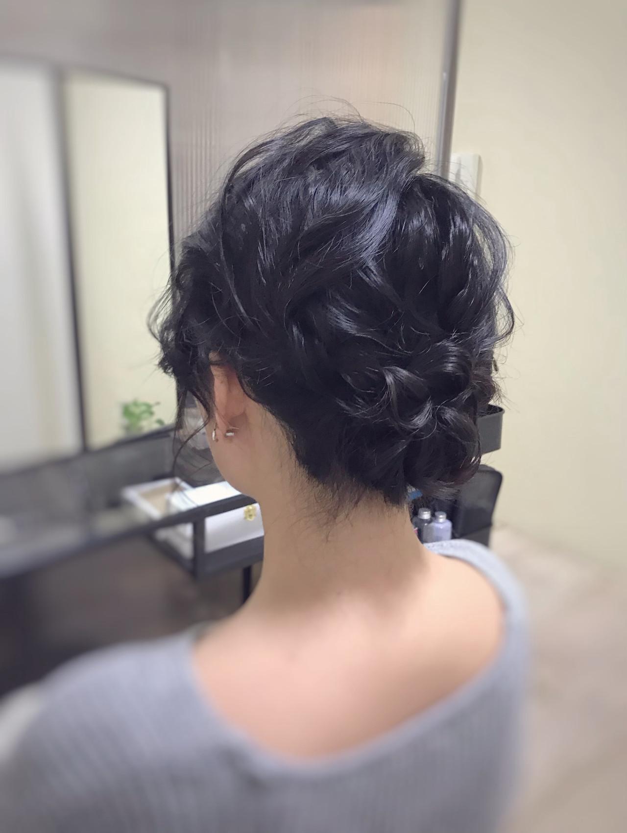 大人可愛い お呼ばれヘア ミディアム ヘアアレンジヘアスタイルや髪型の写真・画像
