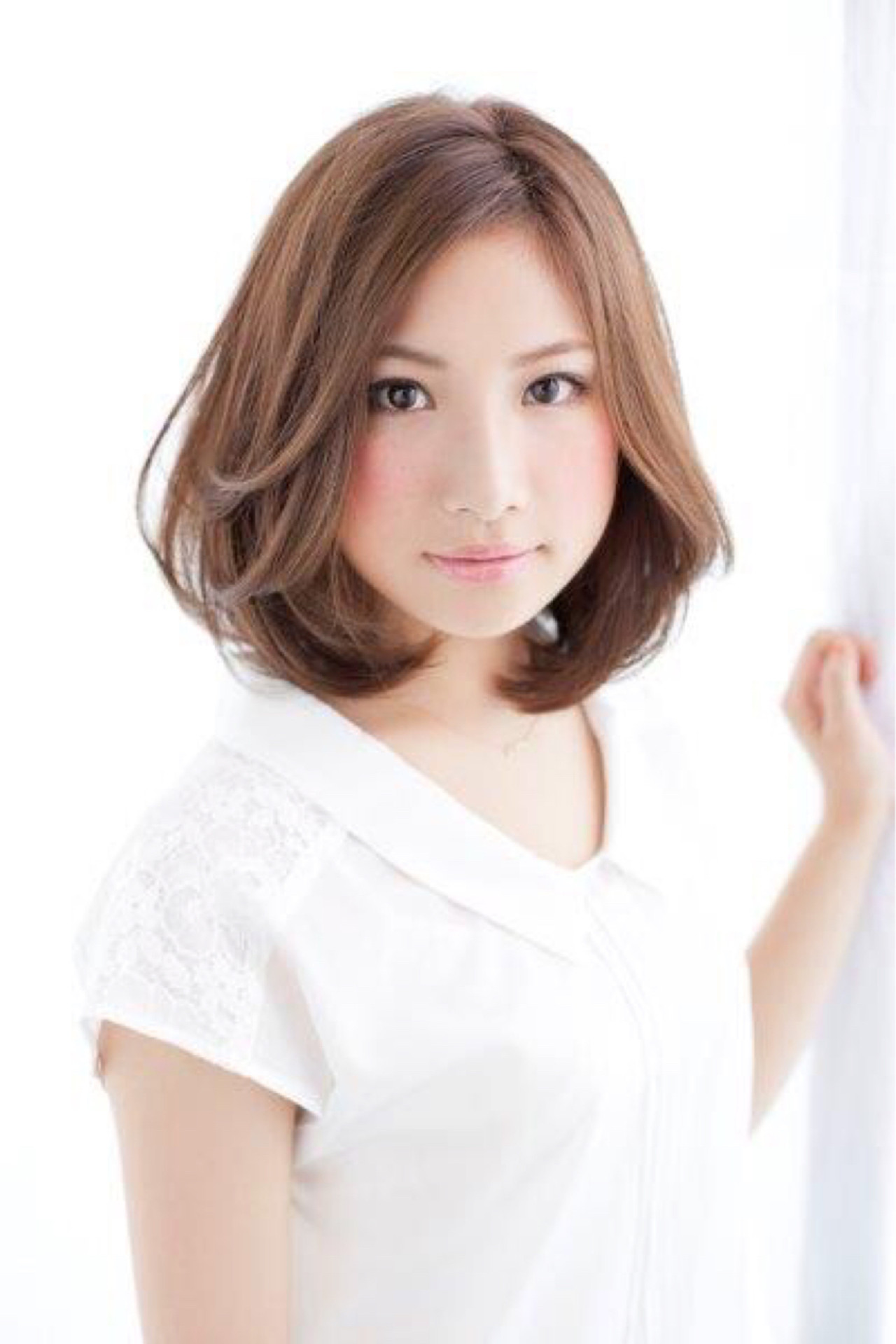 オフィス 外ハネ デート こなれ感 ヘアスタイルや髪型の写真・画像 | 松下哲士 / GARDEN aoyama