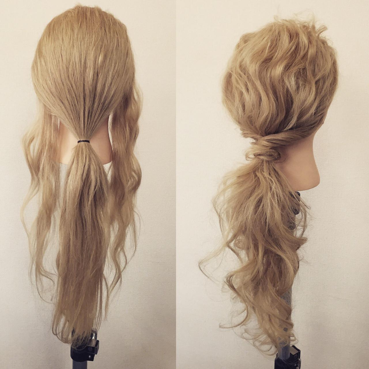フェミニン 簡単ヘアアレンジ ロング 大人かわいい ヘアスタイルや髪型の写真・画像 | 佐藤 允美 / Hair Space  ACT  LOCALLY(アクトローカリー)