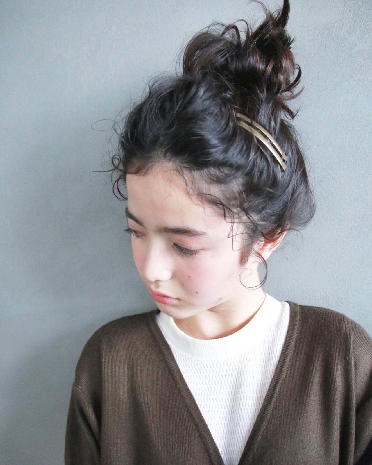 ヘアアレンジ 外国人風 セミロング 簡単ヘアアレンジ ヘアスタイルや髪型の写真・画像 | 津崎 伸二 / nanuk / nanuk渋谷店(ナヌーク)