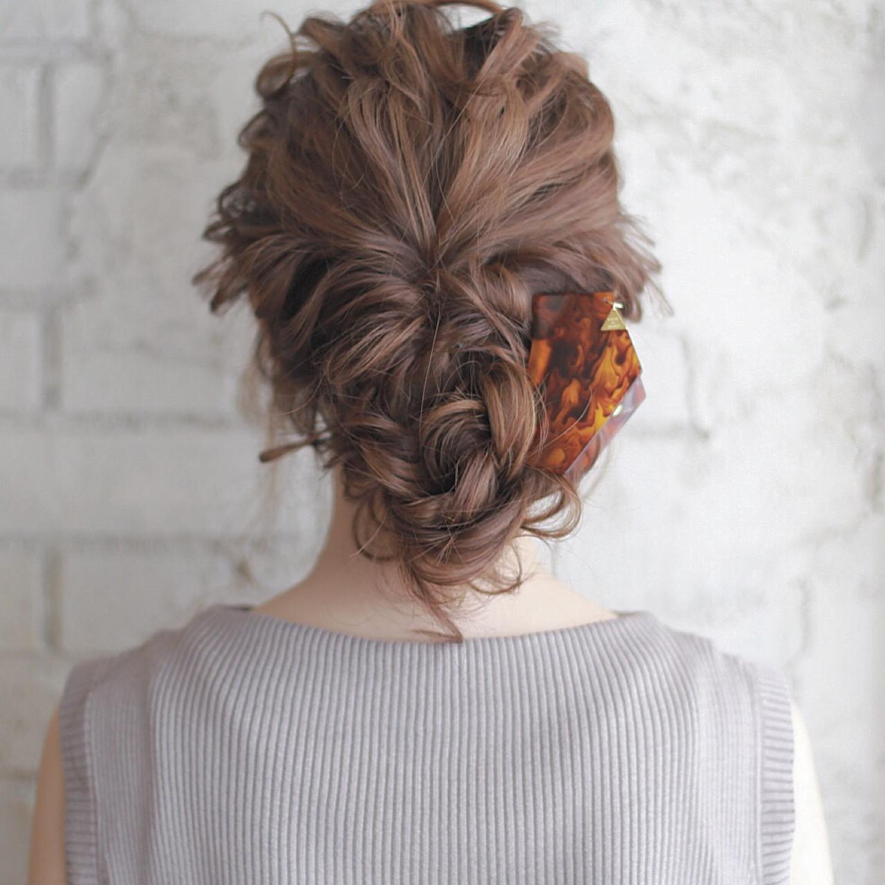 ショート セミロング ヘアアレンジ 夏 ヘアスタイルや髪型の写真・画像 | 廣田哲也 / nalu hair