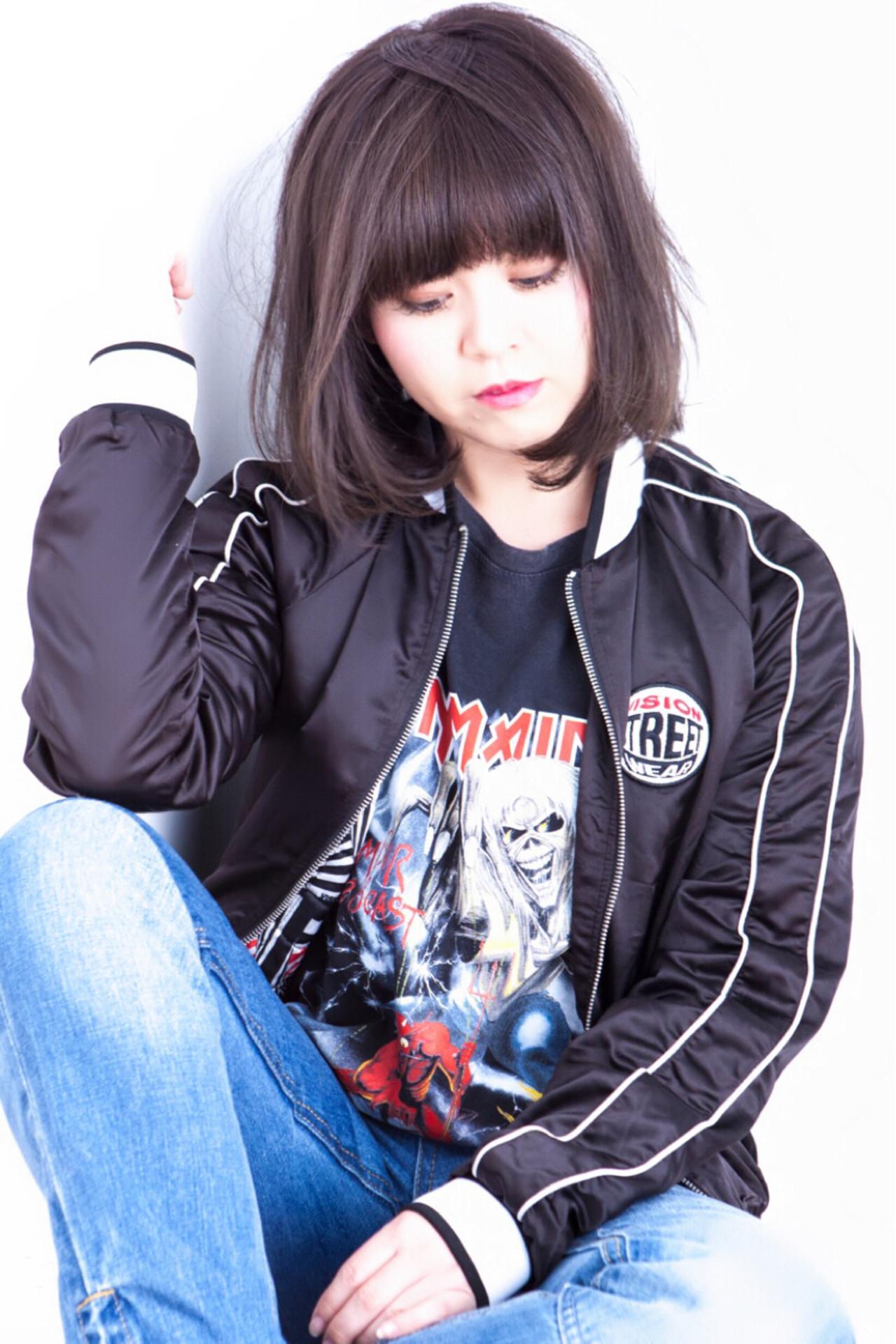 ボブ 色気 ストリート ミディアム ヘアスタイルや髪型の写真・画像   長井 浩気 / ilio-hair atelier-