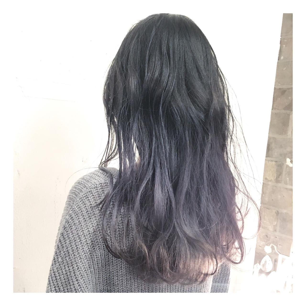 大注目の暗髪×グラデーションまとめ♡ポイントは毛先とハイライト 有山 滉大