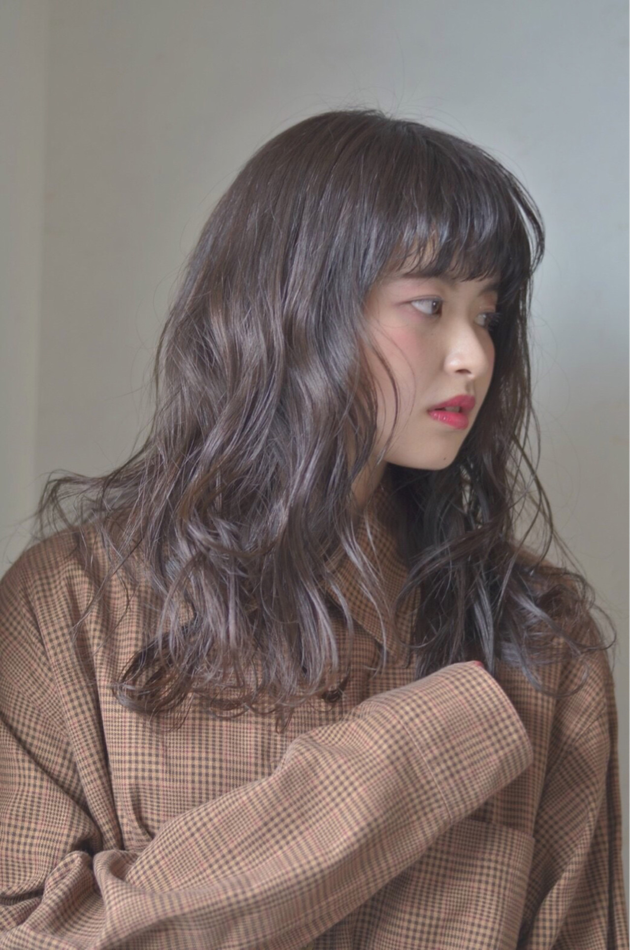 前髪あり ロング ナチュラル 春 ヘアスタイルや髪型の写真・画像 | Reina /