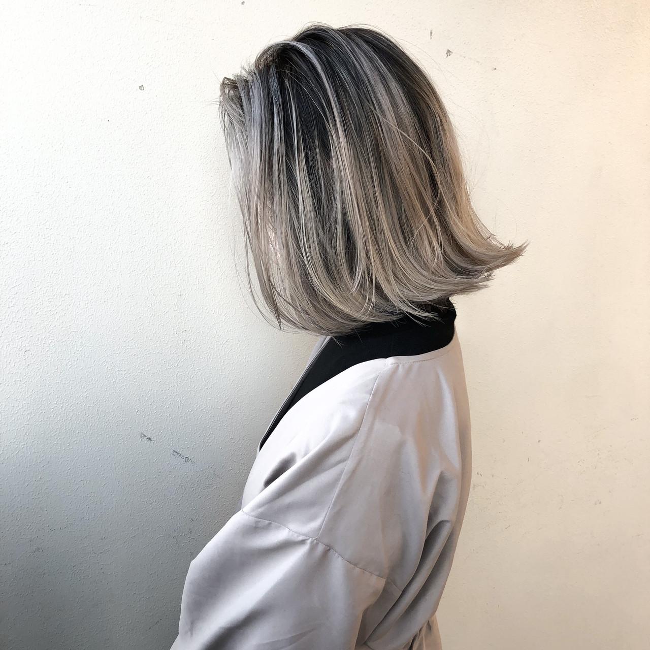 グラデーションカラー ダブルカラー ナチュラル バレイヤージュ ヘアスタイルや髪型の写真・画像   矢口 健太 / Vic's roots