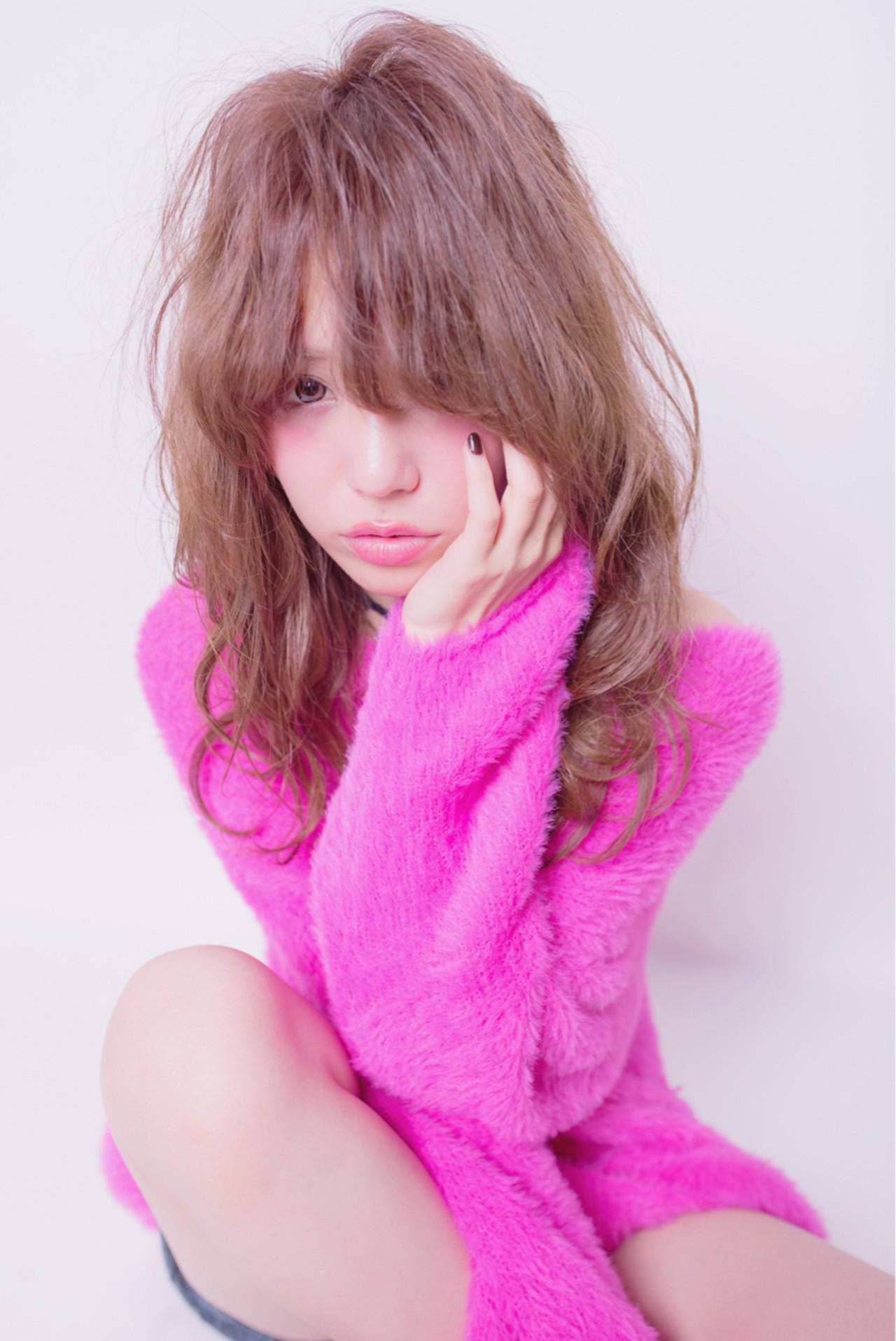 大人かわいい パーマ ゆるふわ ニュアンス ヘアスタイルや髪型の写真・画像 | ken / le jardin attrait【アトレ】茅ヶ崎