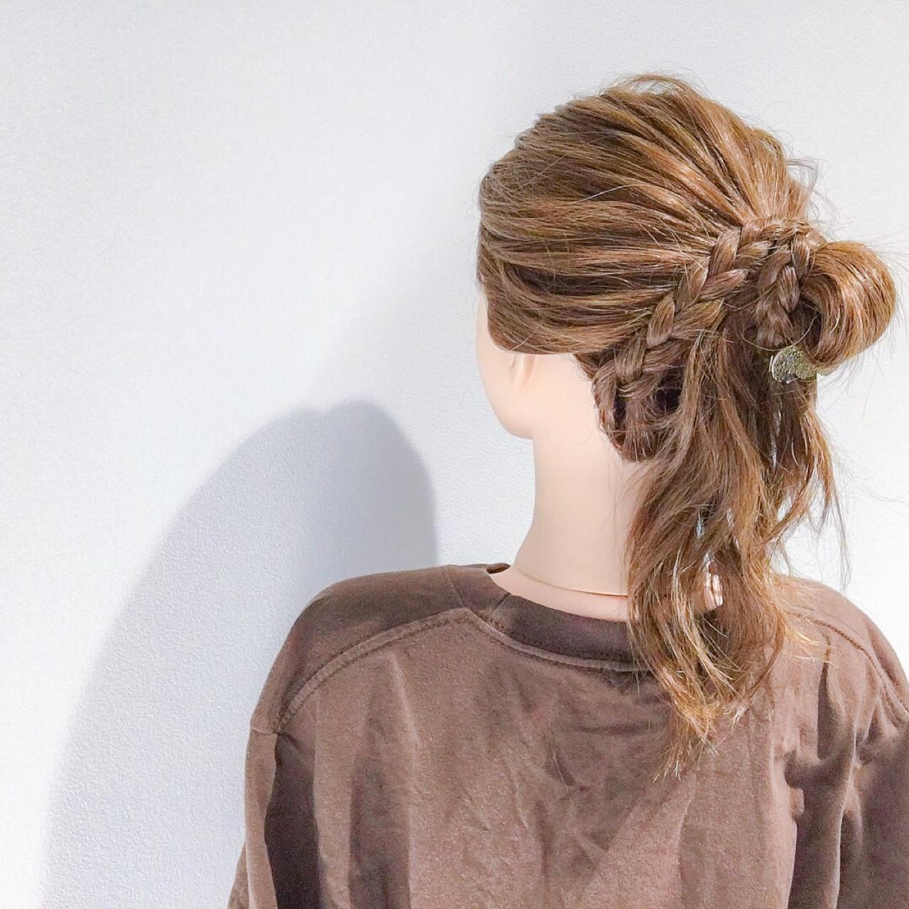簡単ヘアアレンジ アウトドア ヘアアレンジ フェミニン ヘアスタイルや髪型の写真・画像   美容師HIRO/Amoute代表 / Amoute/アムティ