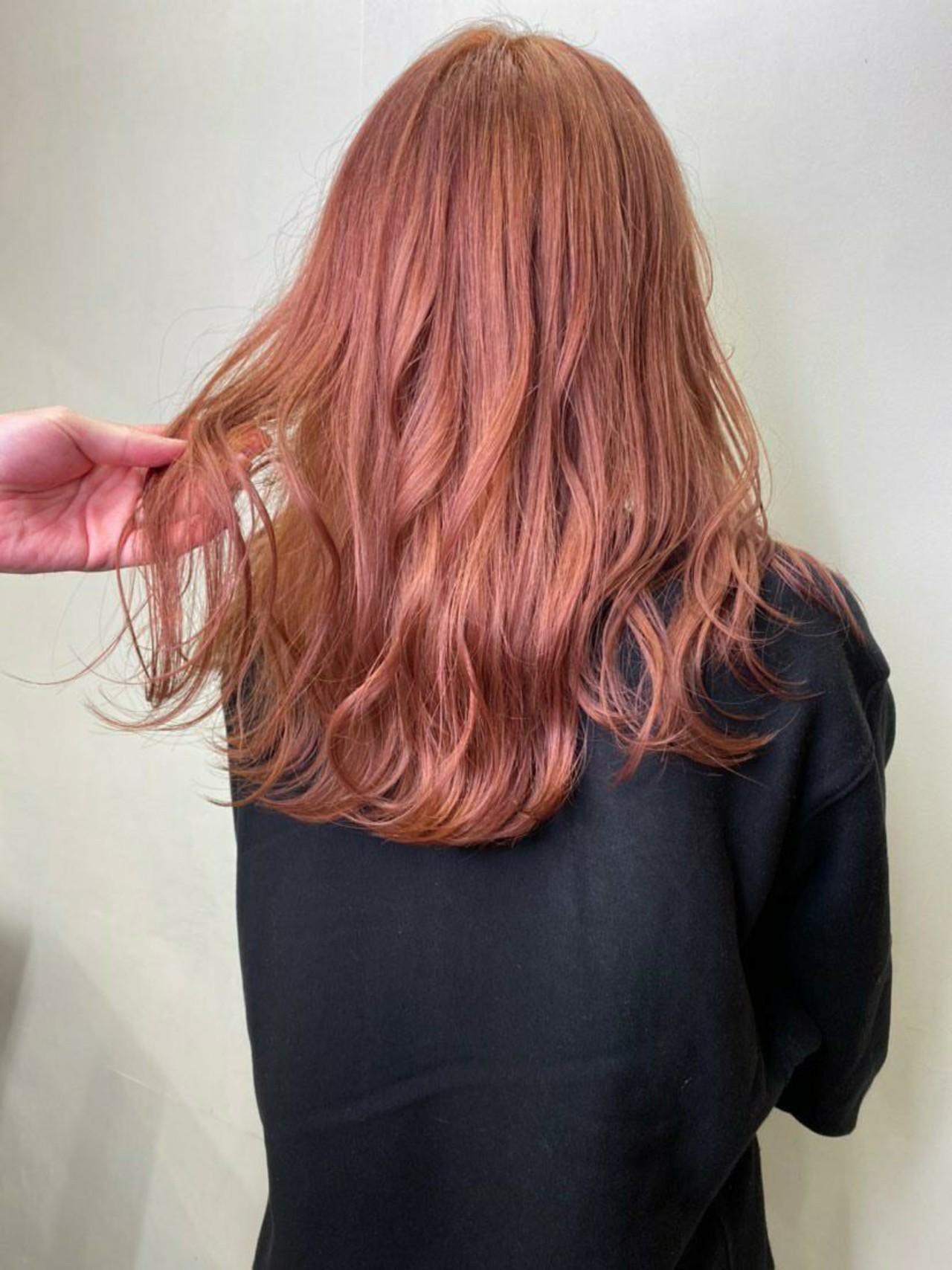 銀座美容室 フェミニン ロング ブリーチカラー ヘアスタイルや髪型の写真・画像 | MATSUDA / HAIR DERA'S 中央通り店