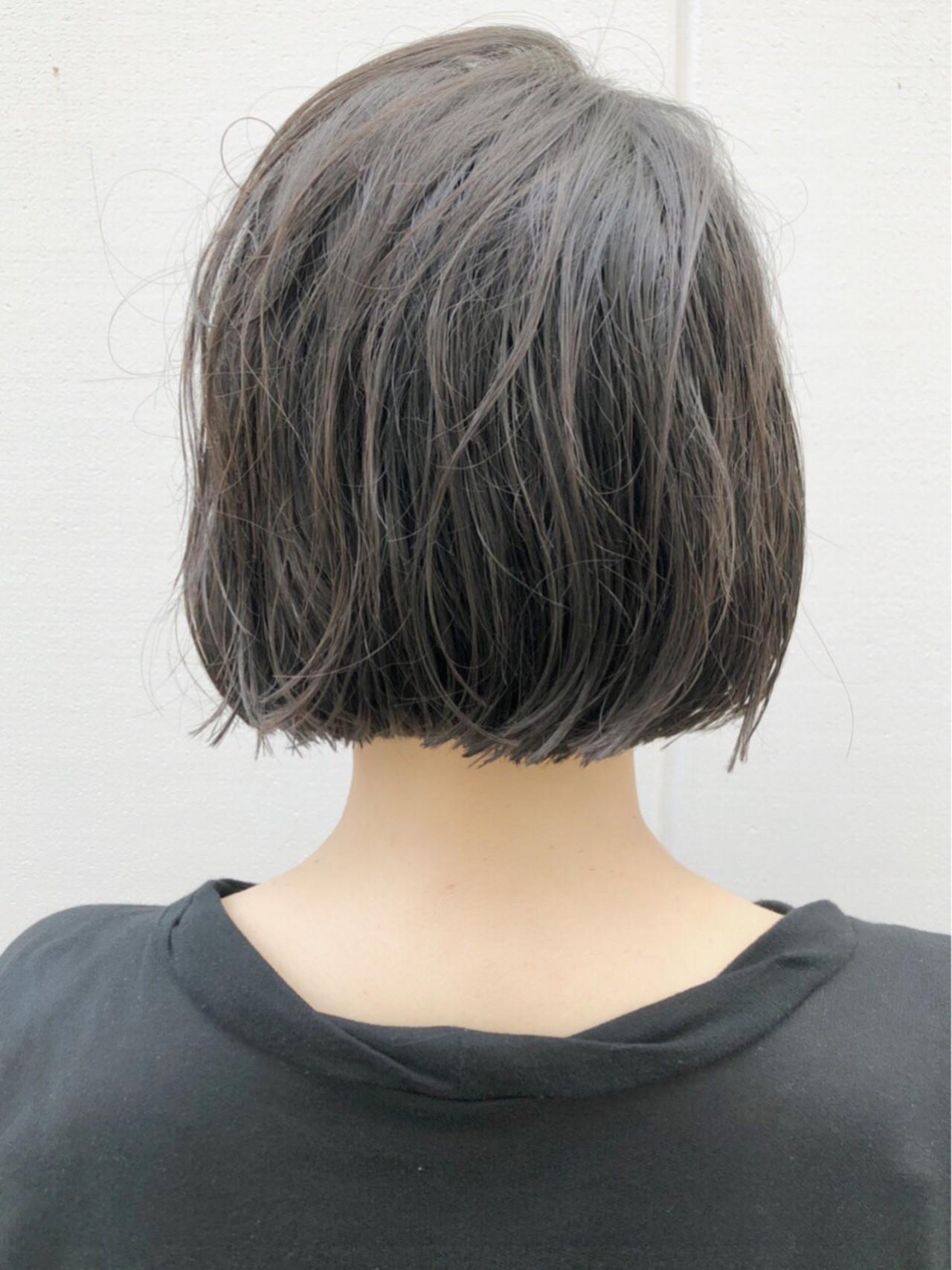 ボブ 切りっぱなし アンニュイ ウェーブ ヘアスタイルや髪型の写真・画像 | 野口勇樹【ノースタイリングボブ】 / GO TODAY渋谷