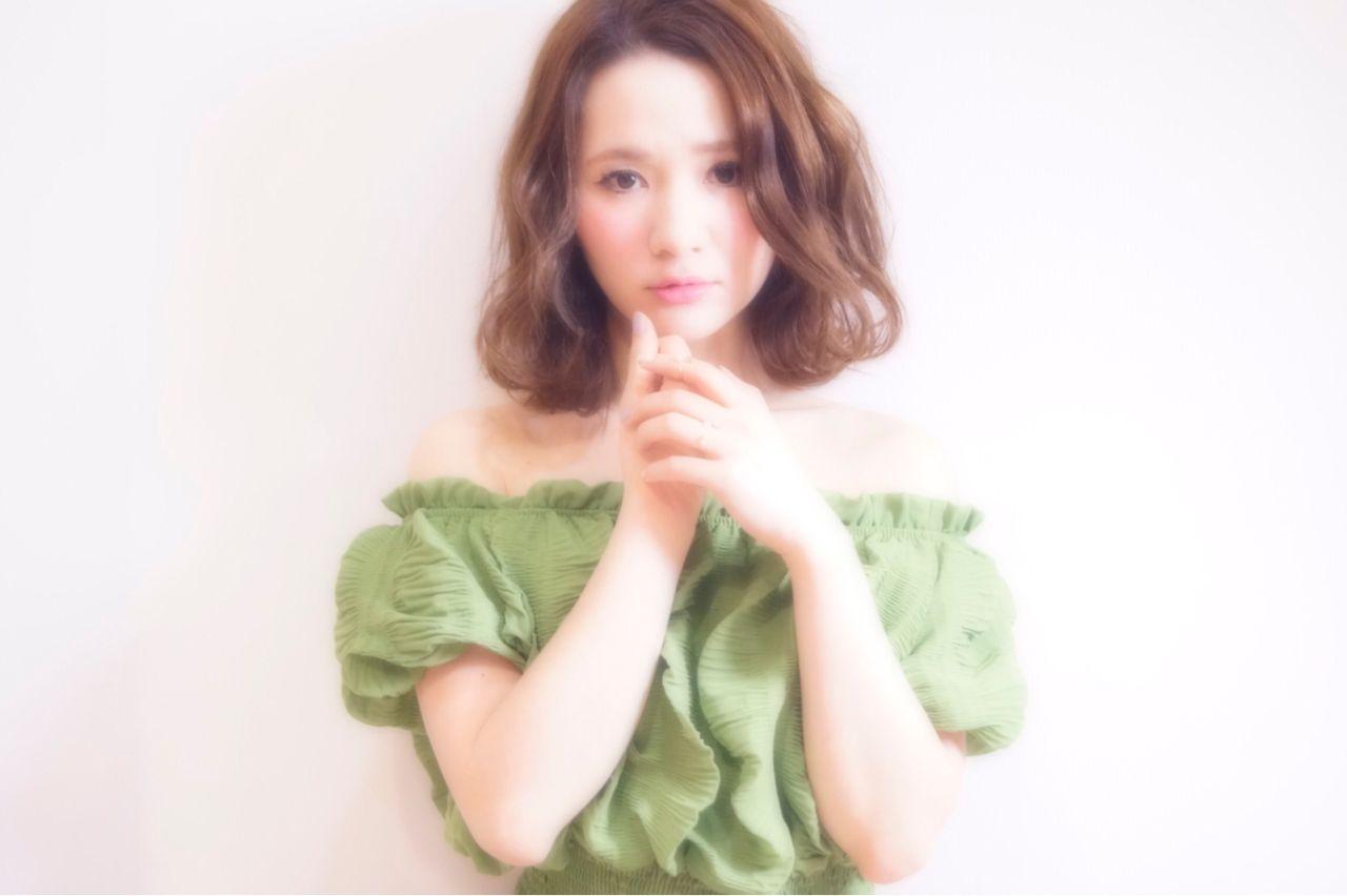 モテ髪 フェミニン センターパート コンサバ ヘアスタイルや髪型の写真・画像   中島 香 / JAM