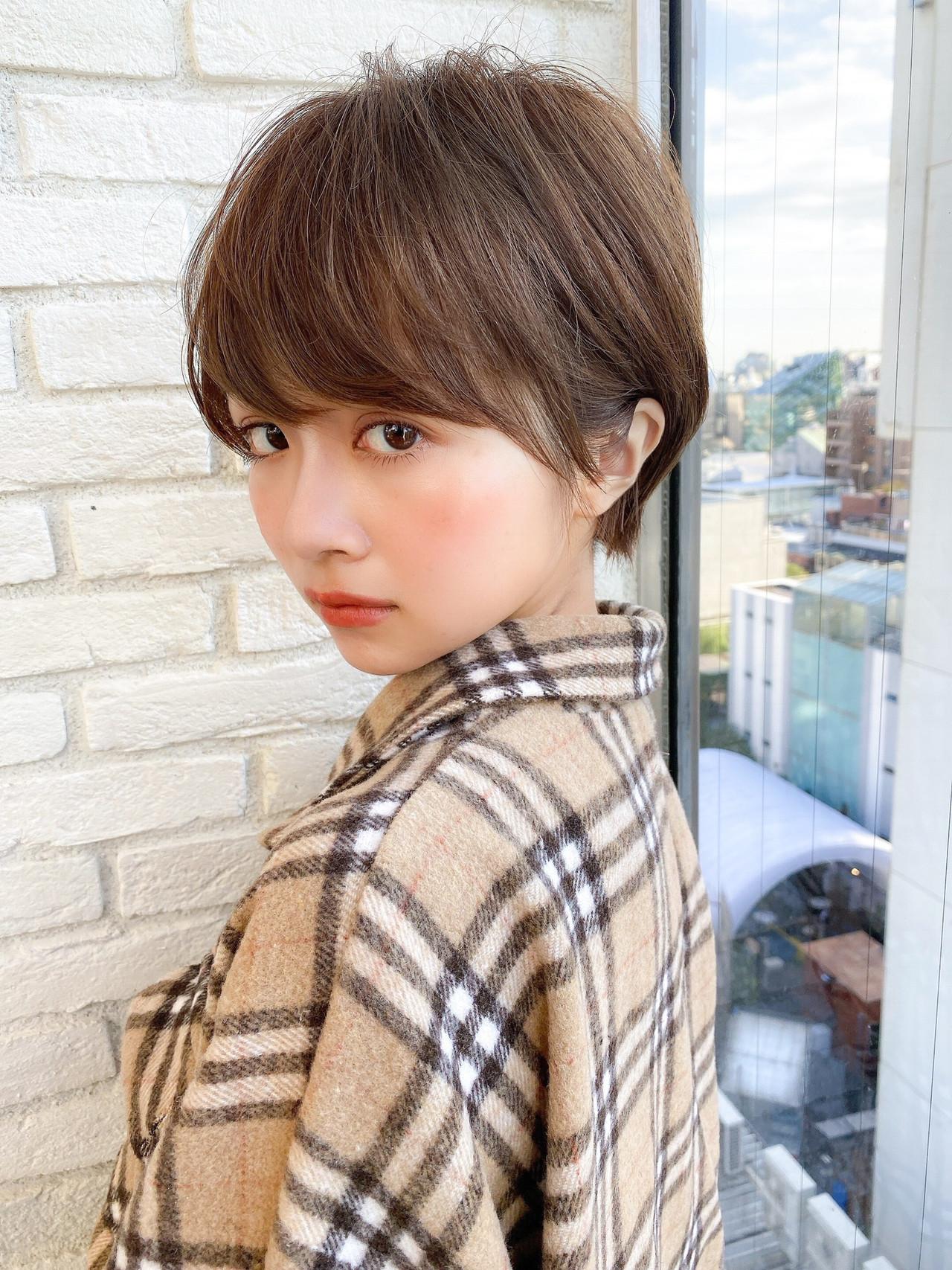 ショートボブ マッシュショート ナチュラル ショートヘア ヘアスタイルや髪型の写真・画像   島本 涼雅 / Lond damaskRose