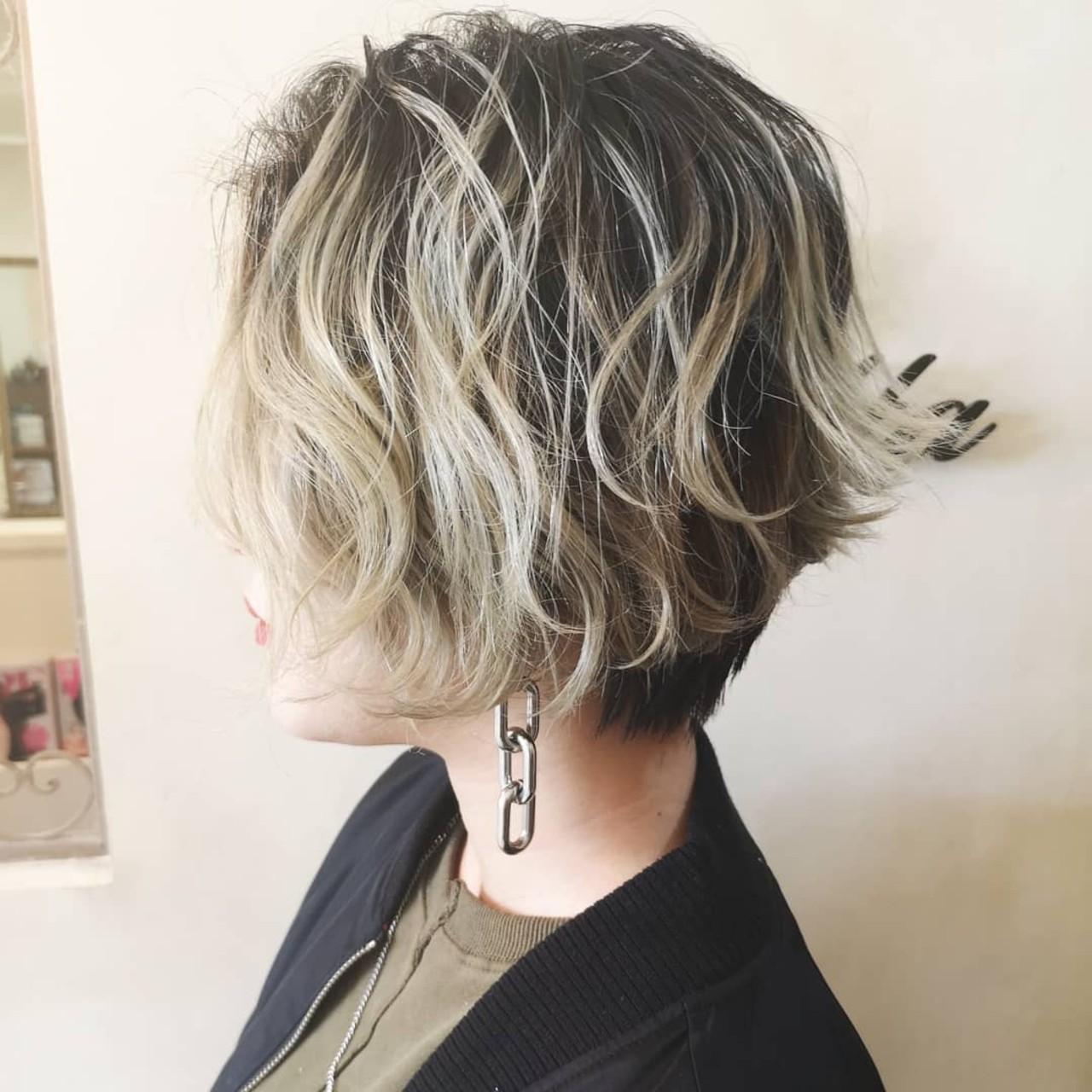 ダブルカラー ショート ショートヘア ストリート ヘアスタイルや髪型の写真・画像 | Yusuke Matsumoto / HAIR'S Lunetta 心斎橋