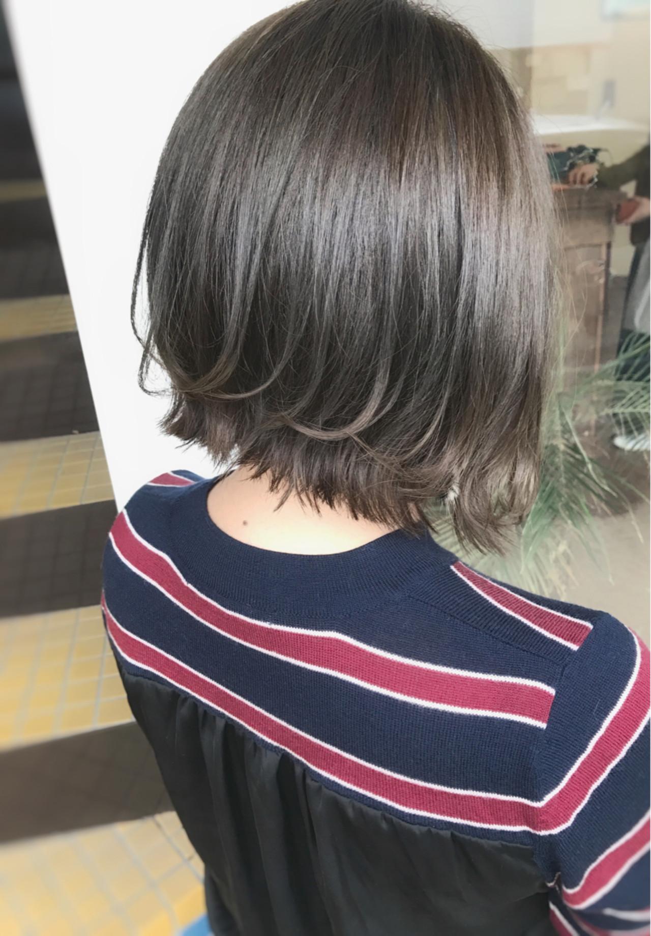 ボブ 大人かわいい ショート ガーリー ヘアスタイルや髪型の写真・画像 | サワ / Seamu