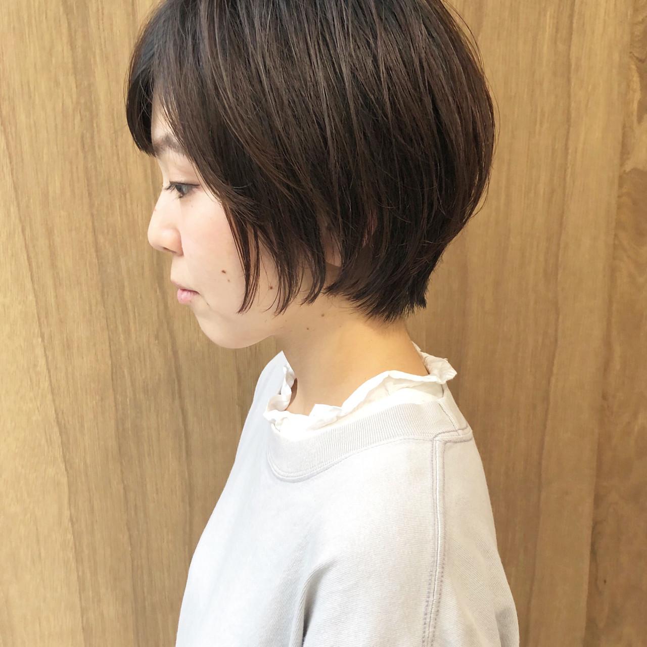 グラデーションカラー ナチュラル ボブ インナーカラー ヘアスタイルや髪型の写真・画像 | 松井勇樹 / TWiGGY  歩行町店