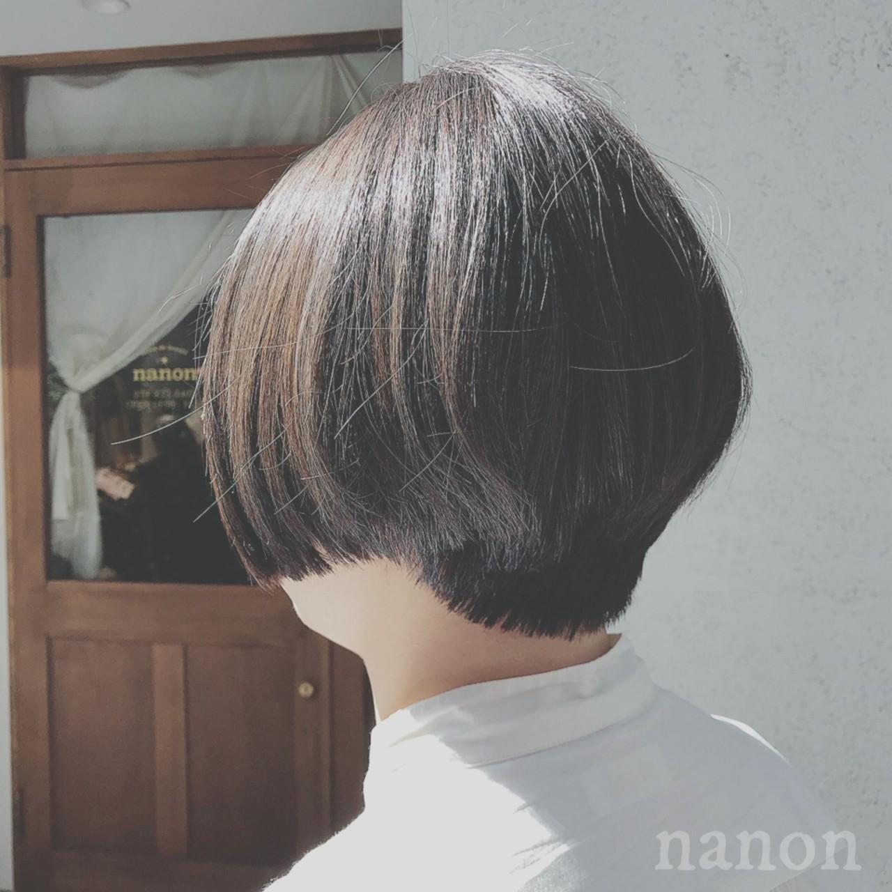 ナチュラル デート ゆるふわ ショート ヘアスタイルや髪型の写真・画像 | 浦川由起江 / nanon
