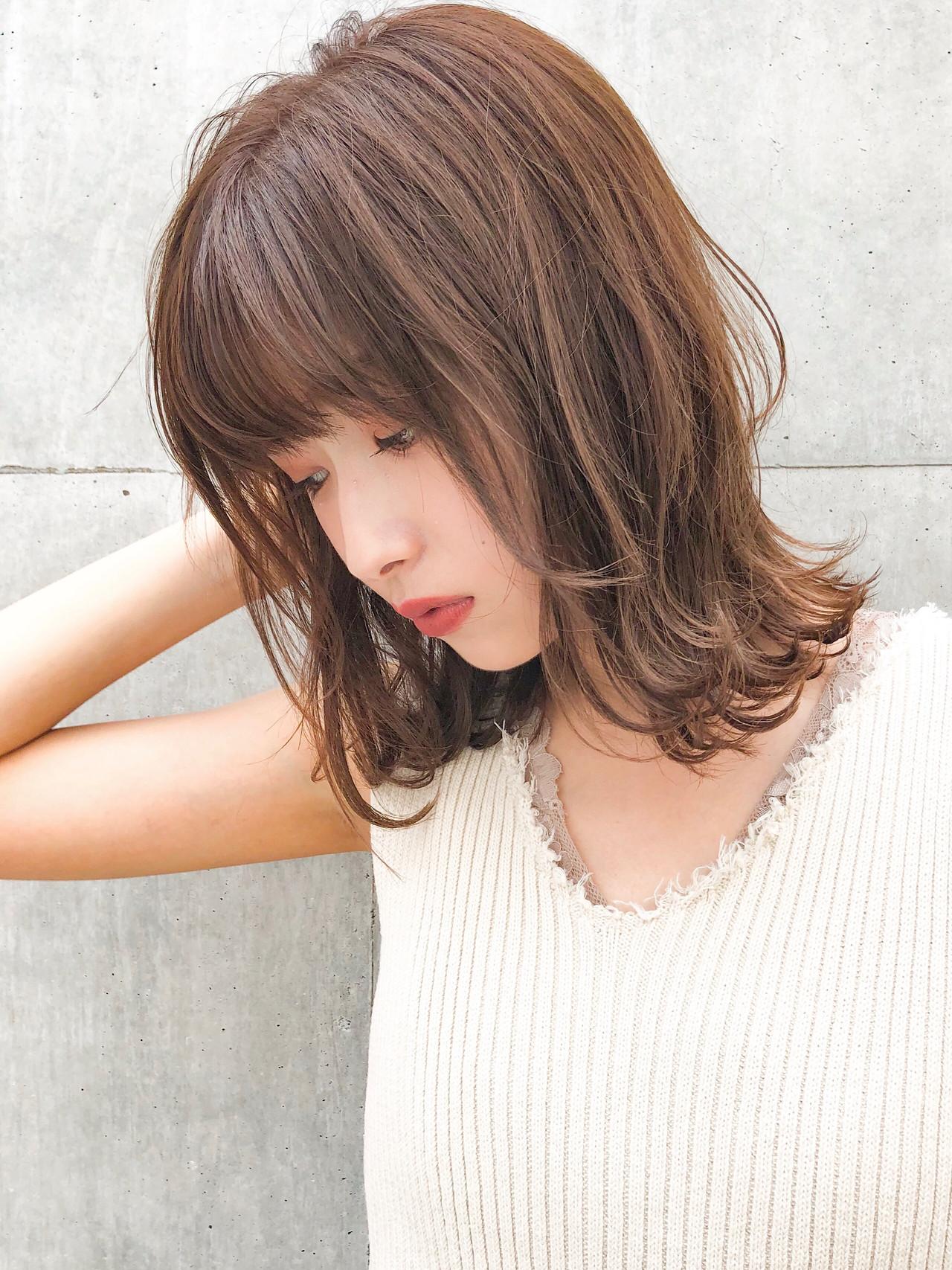 デジタルパーマ デート ナチュラル ヘアアレンジ ヘアスタイルや髪型の写真・画像