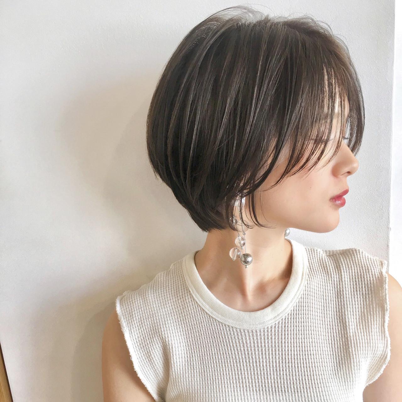 エフォートレス ヘアアレンジ フェミニン オフィス ヘアスタイルや髪型の写真・画像 | ショートボブの匠【 山内大成 】『i.hair』 / 『 i. 』 omotesando