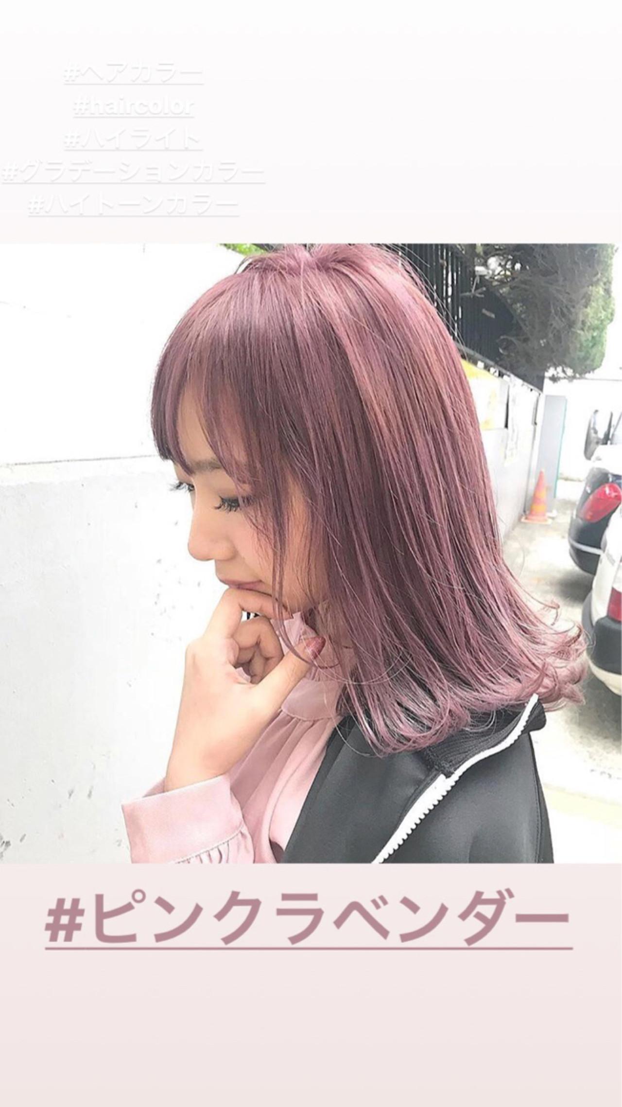 ミディアム ガーリーヘアスタイルや髪型の写真・画像