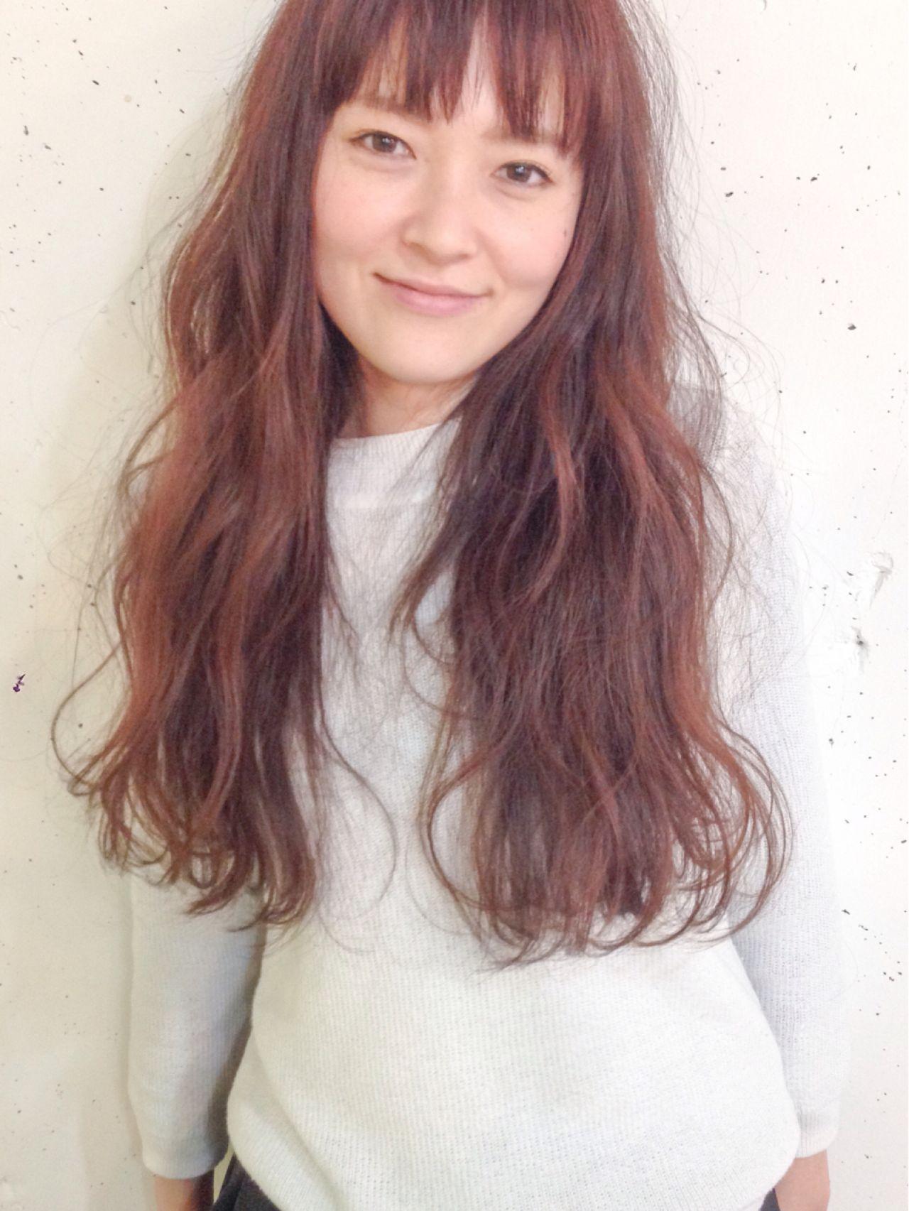 ウェーブ ロング ナチュラル ウェットヘア ヘアスタイルや髪型の写真・画像 | 原木翔太 / lufun hair design  ルファン