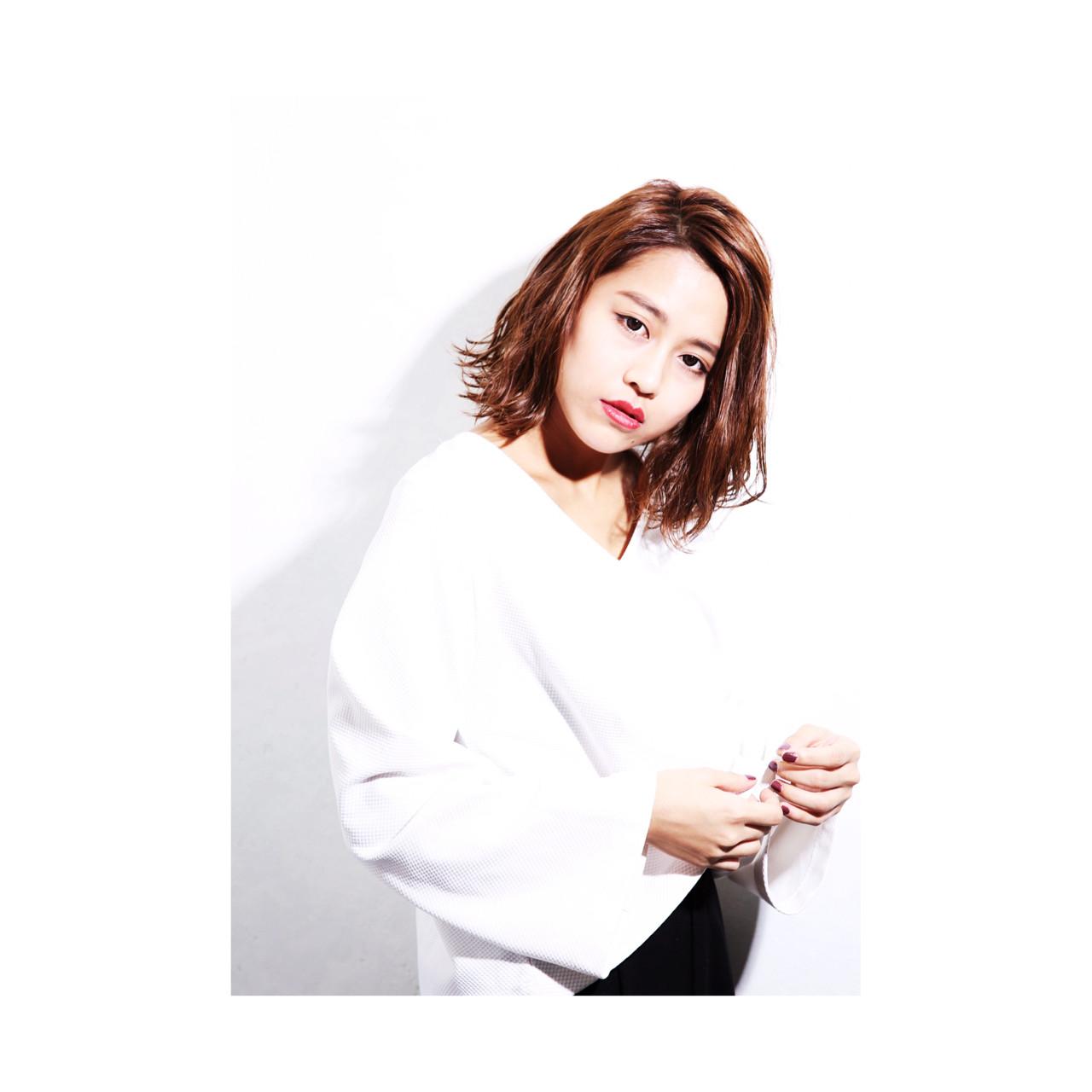 色気 パーマ 外国人風 ハイライト ヘアスタイルや髪型の写真・画像 | 田中千枝子/大阪のショート・ボブ♡ / BELO  OSAKA(ベロ 大阪)
