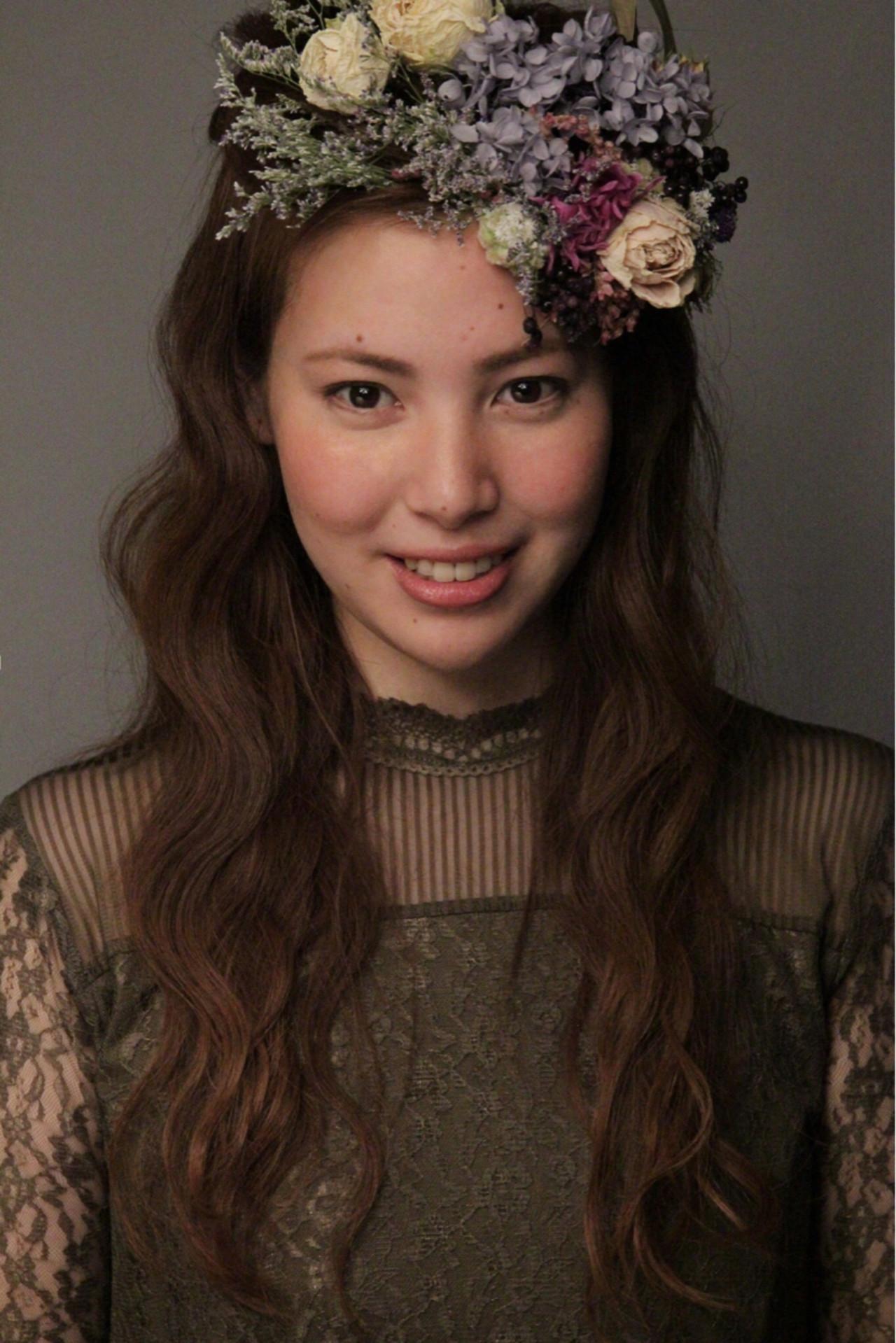 ヘアアレンジ フェミニン 結婚式 ロング ヘアスタイルや髪型の写真・画像 | 永井野 健人 / F.AVEDA 木の葉モール橋本