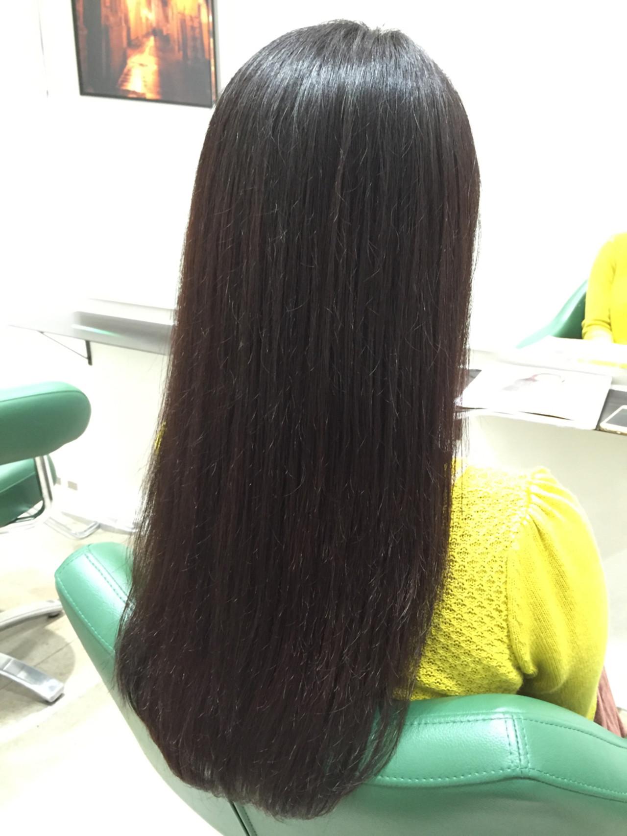 秋 ロング ブラウン 暗髪ヘアスタイルや髪型の写真・画像