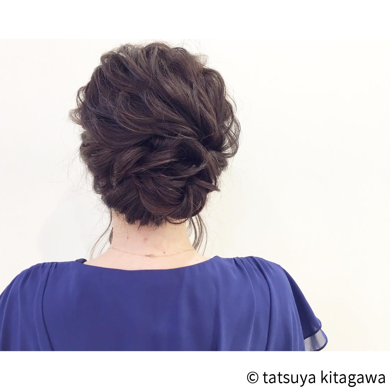 結婚式 セミロング 外国人風 ゆるふわ ヘアスタイルや髪型の写真・画像 | tatsuya kitagawa / clarity 京都駅前本店