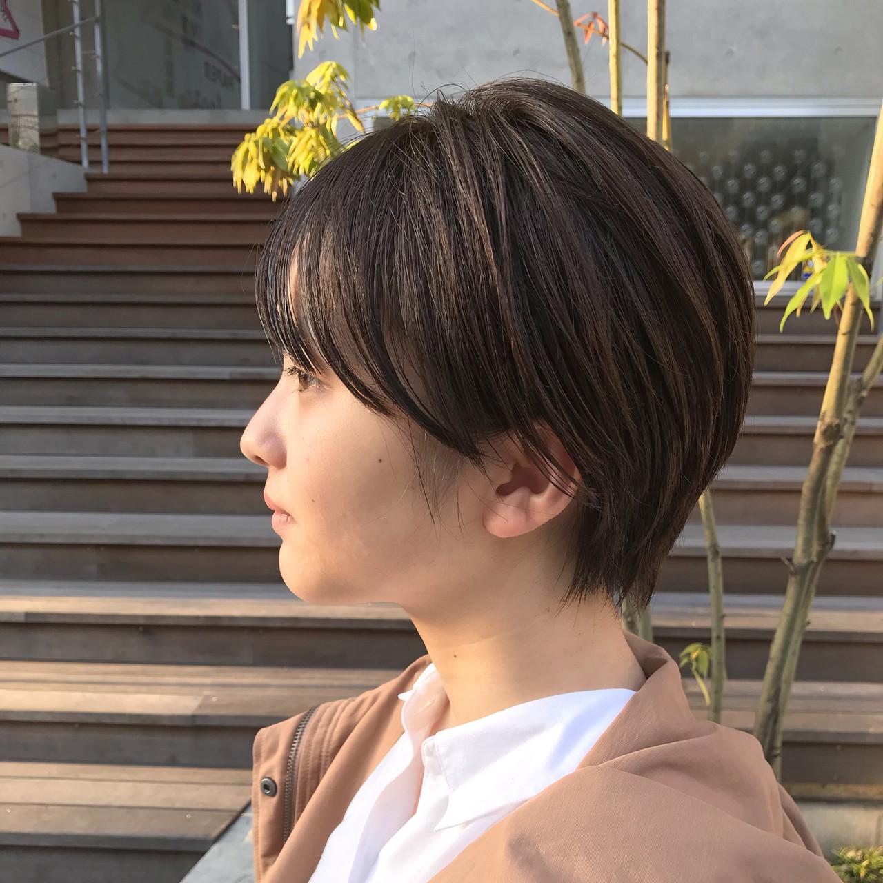 ナチュラル ショートボブ ショートヘア ショート ヘアスタイルや髪型の写真・画像 | 川西知隼 / Cocoon