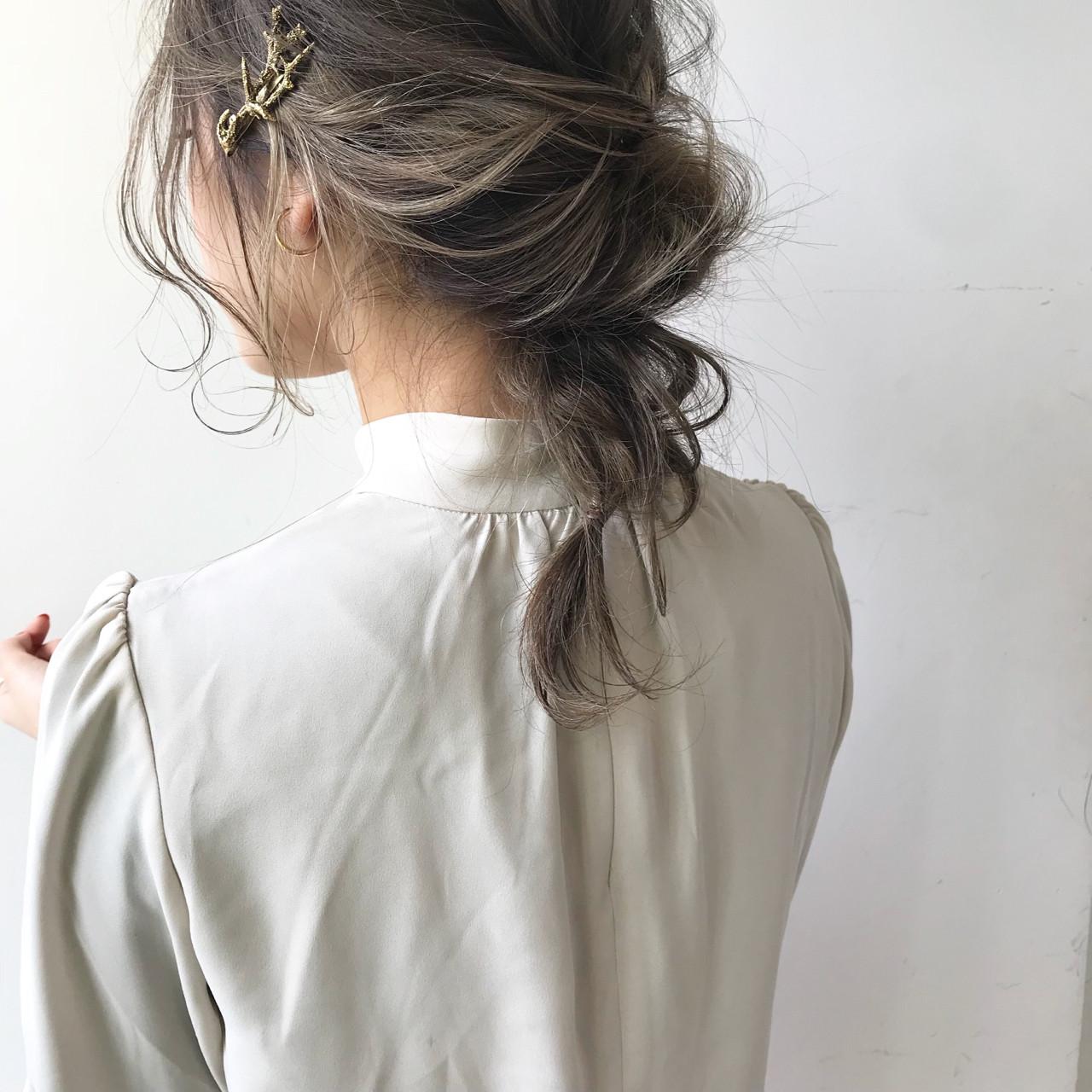 冬 簡単ヘアアレンジ ミディアム 結婚式 ヘアスタイルや髪型の写真・画像 | 佐々木拓巳 / GARDEN harajuku